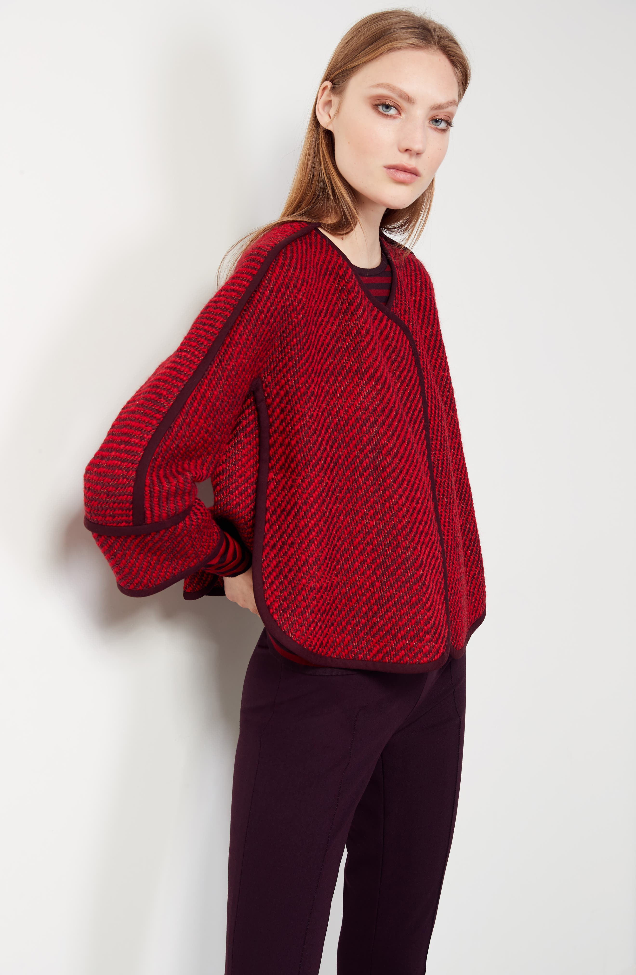 Alternate Image 2  - Akris punto Wool Blend Crop Jacket