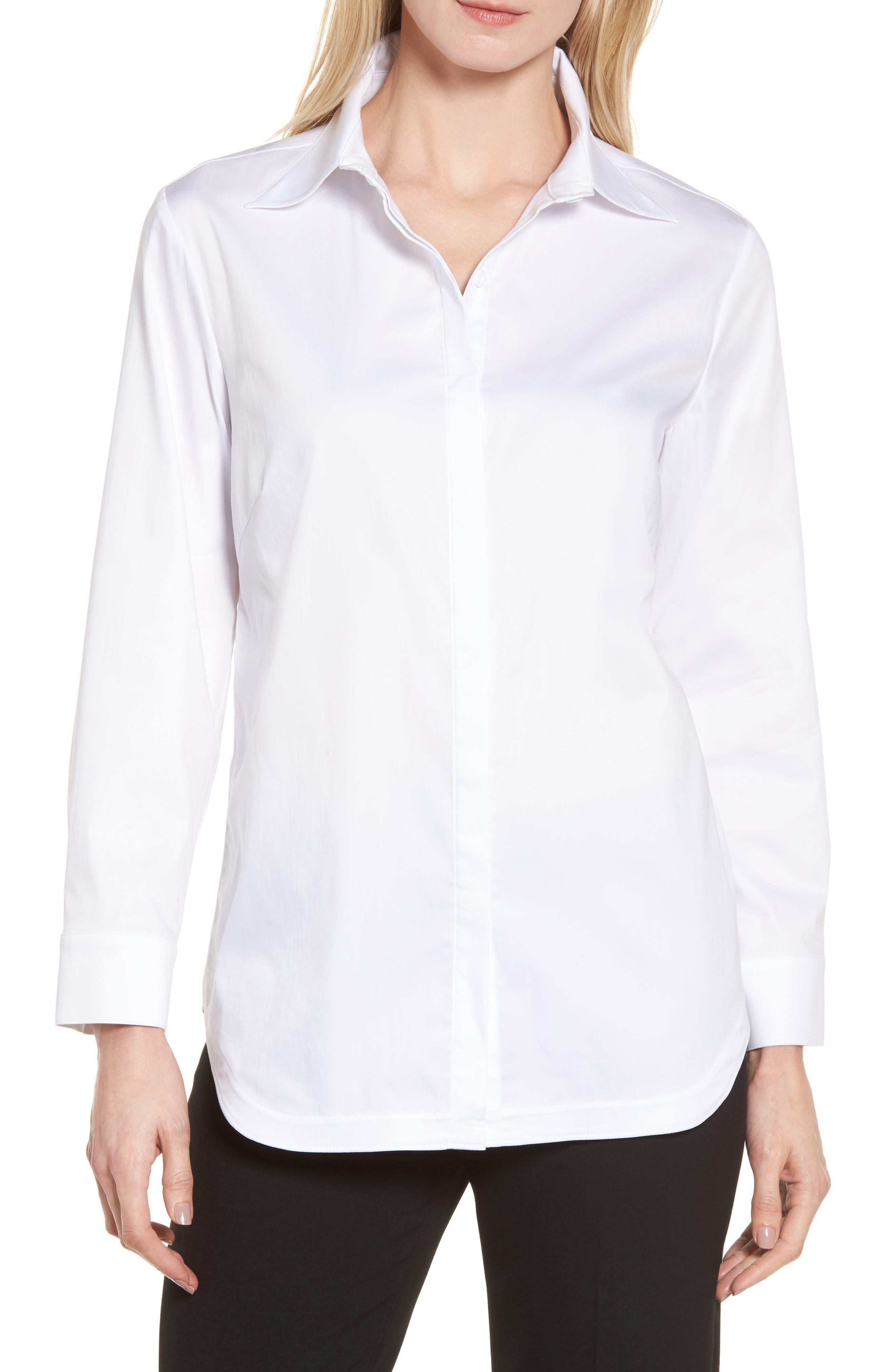 Ming Wang Button Back Shirt