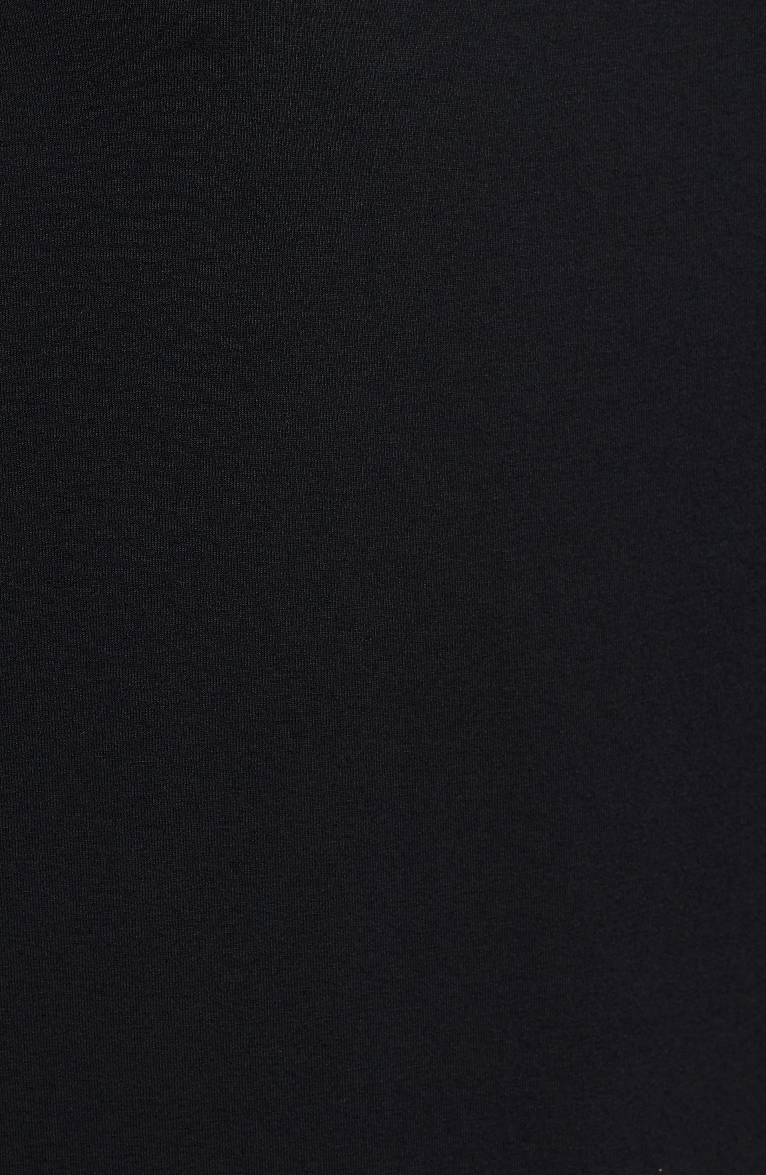 Jersey Ballet Neck Top,                             Alternate thumbnail 5, color,                             Black