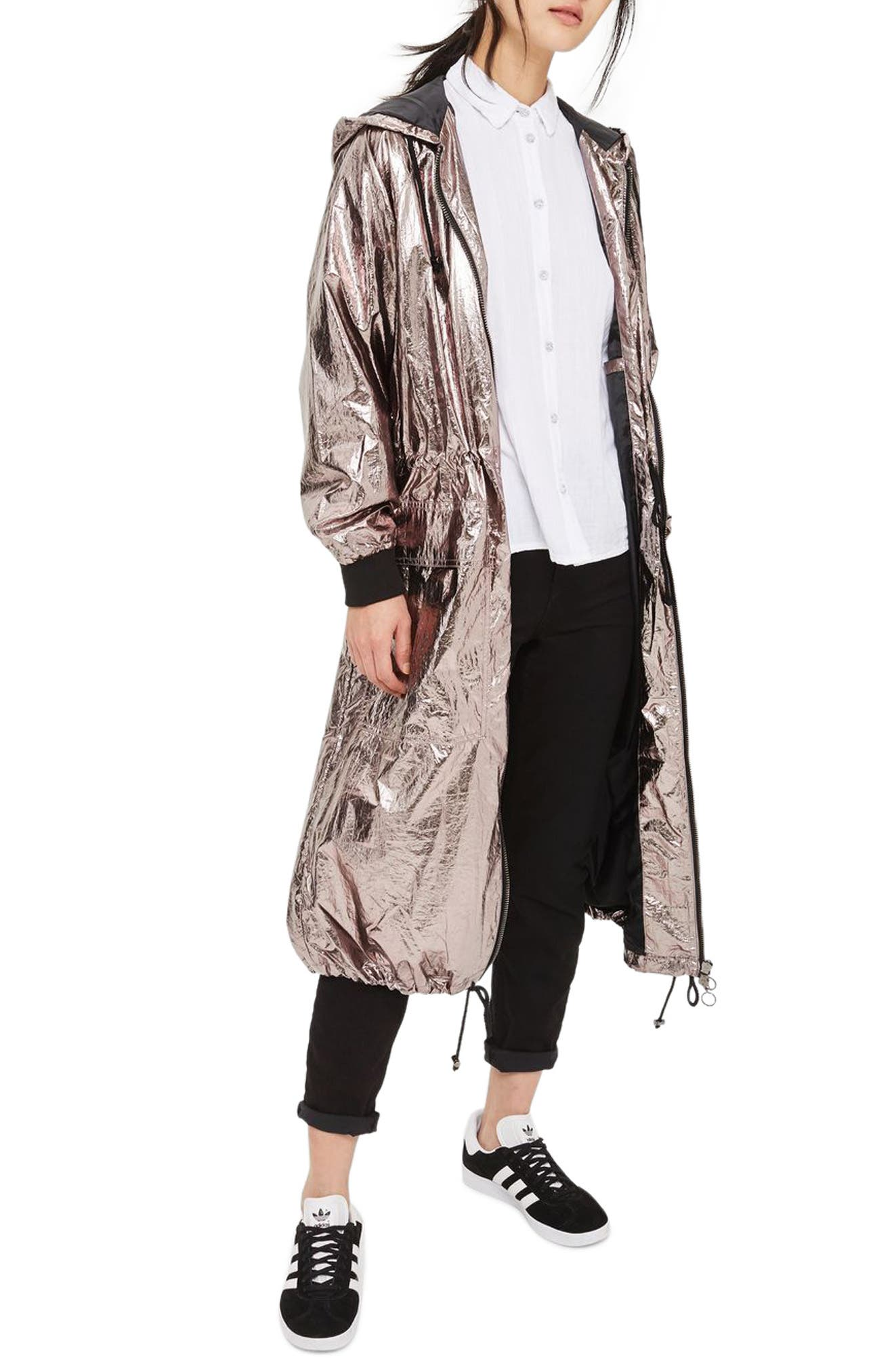 Topshop Tiny Dancer Metallic Duster Jacket (Petite)