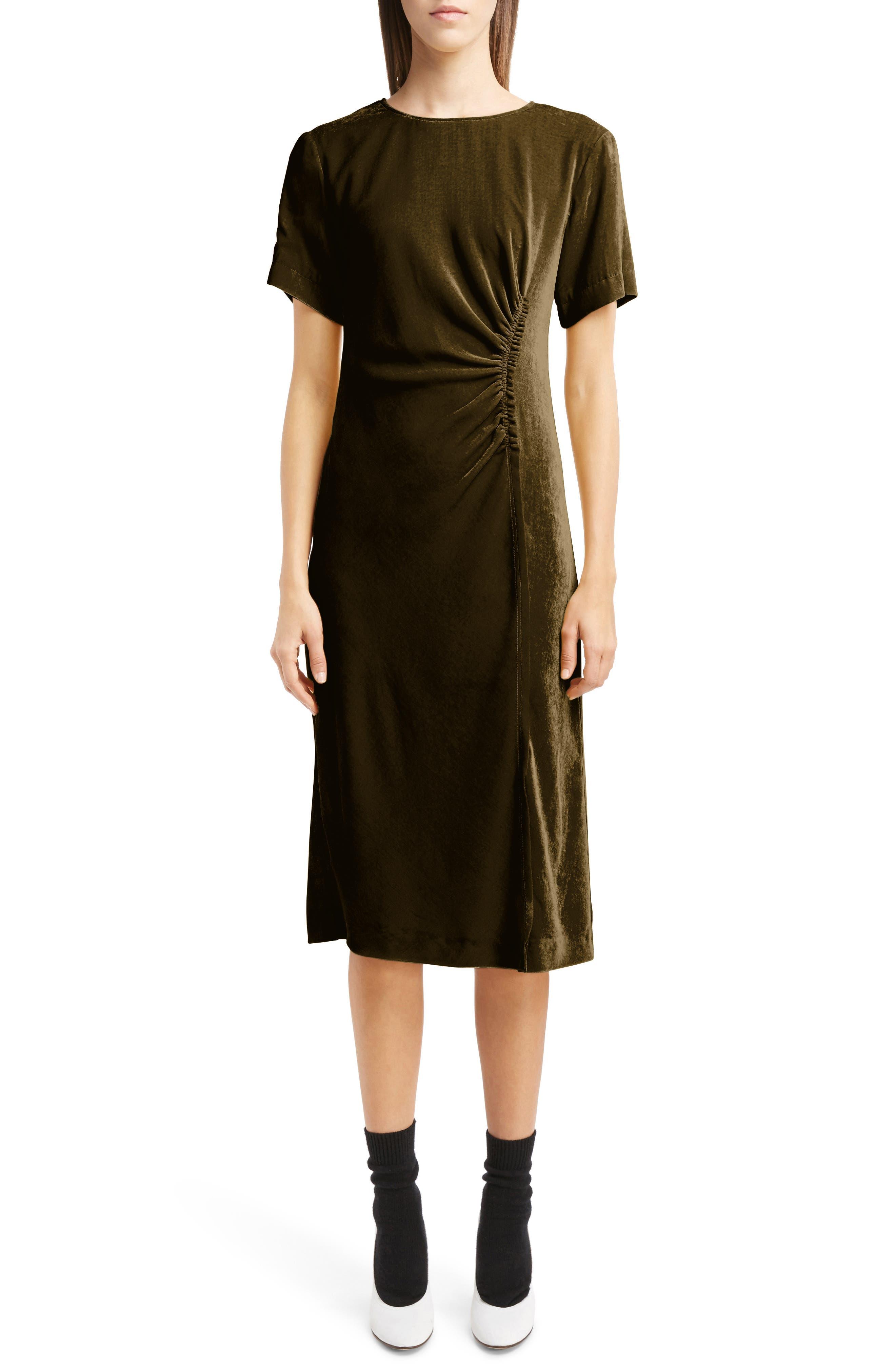 Alternate Image 1 Selected - Dries Van Noten Gathered Velvet Dress