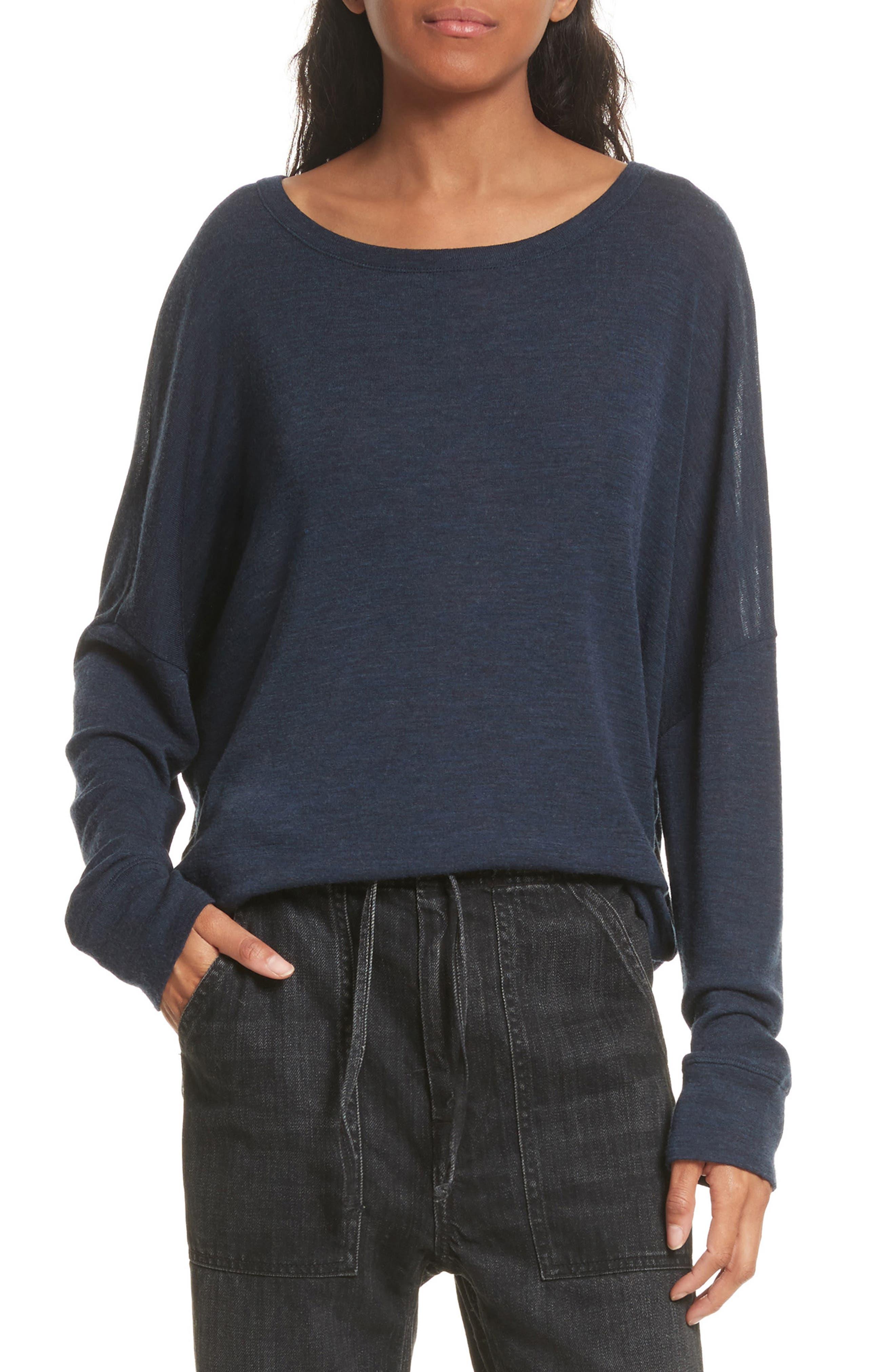 Wool Pullover,                         Main,                         color, Coastal