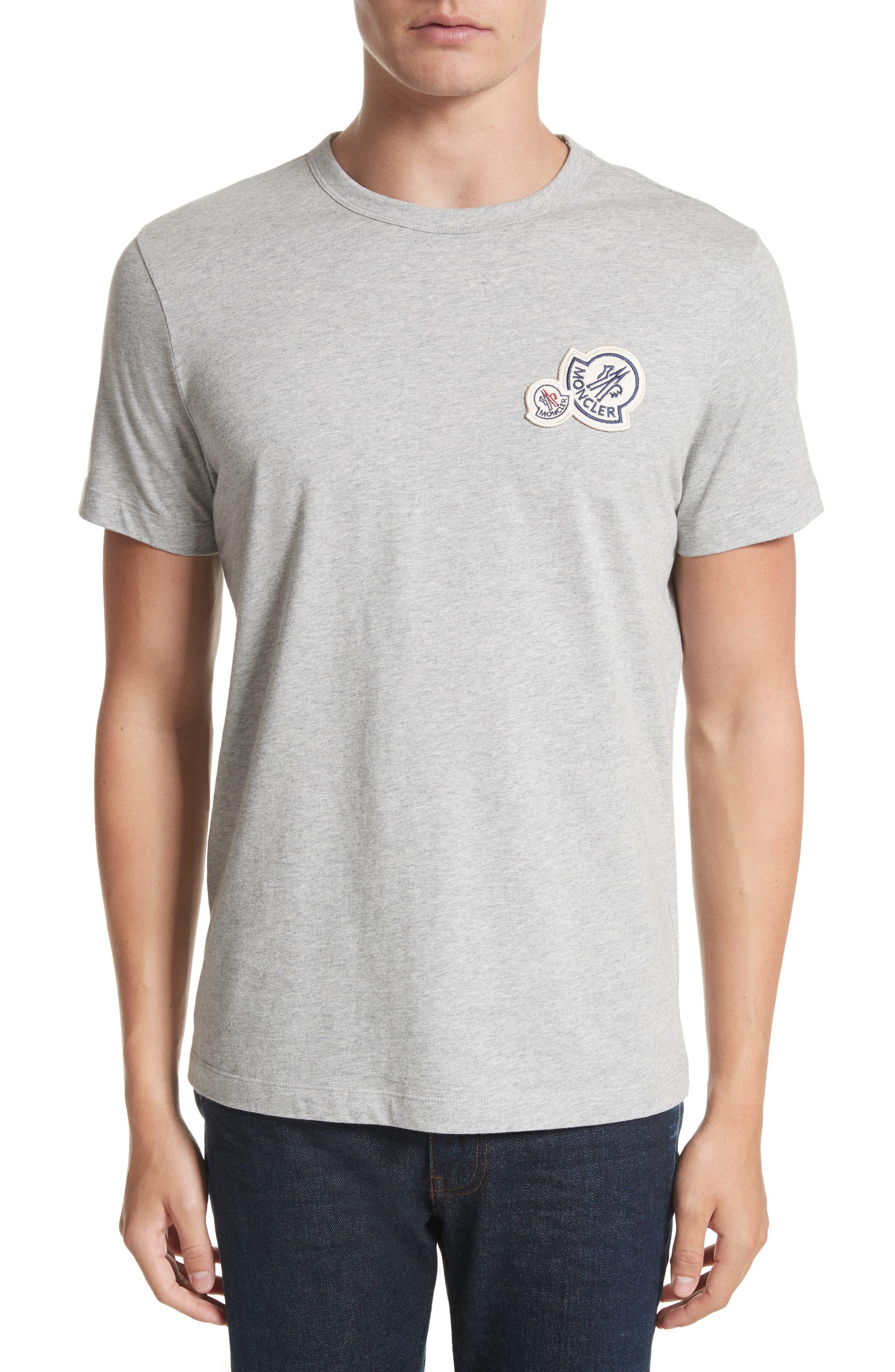 Patch Detail T-Shirt,                         Main,                         color, Light Grey