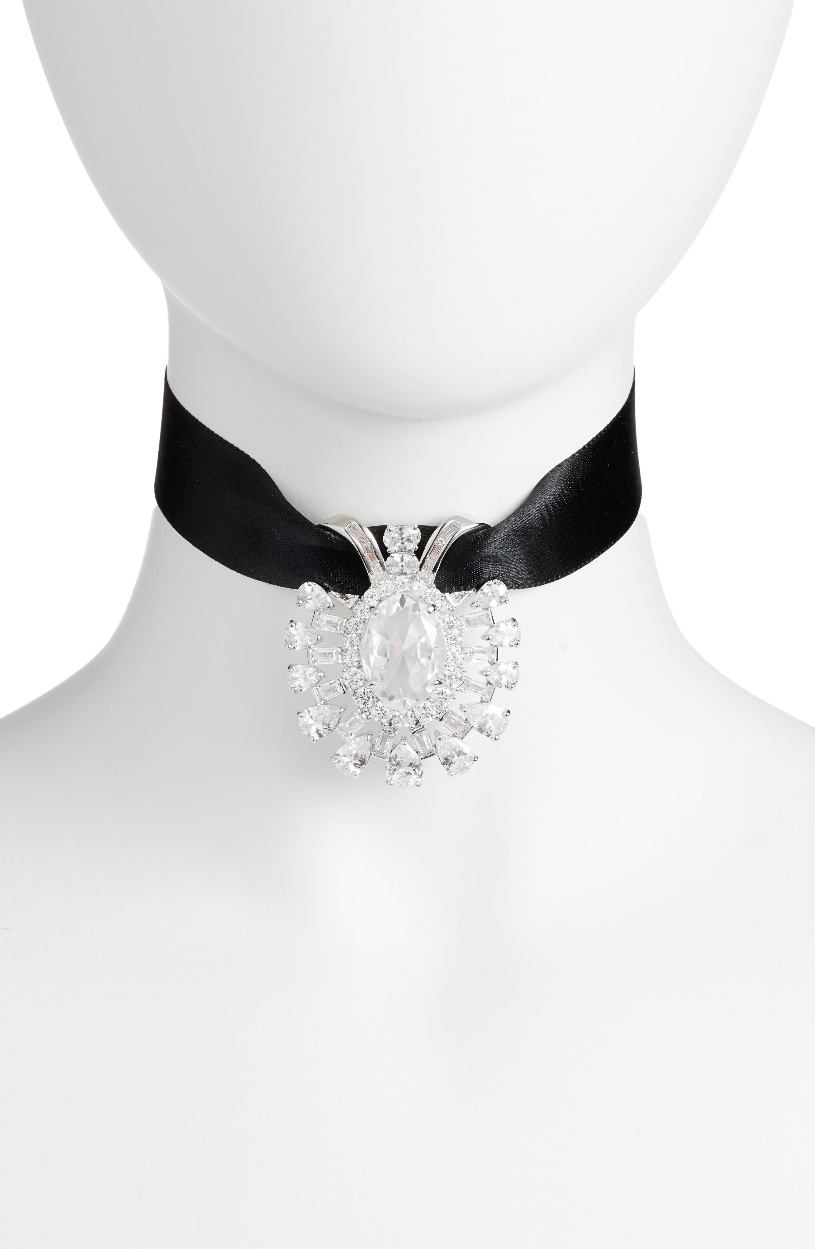 CZ by Kenneth Jay Lane Pendant Choker