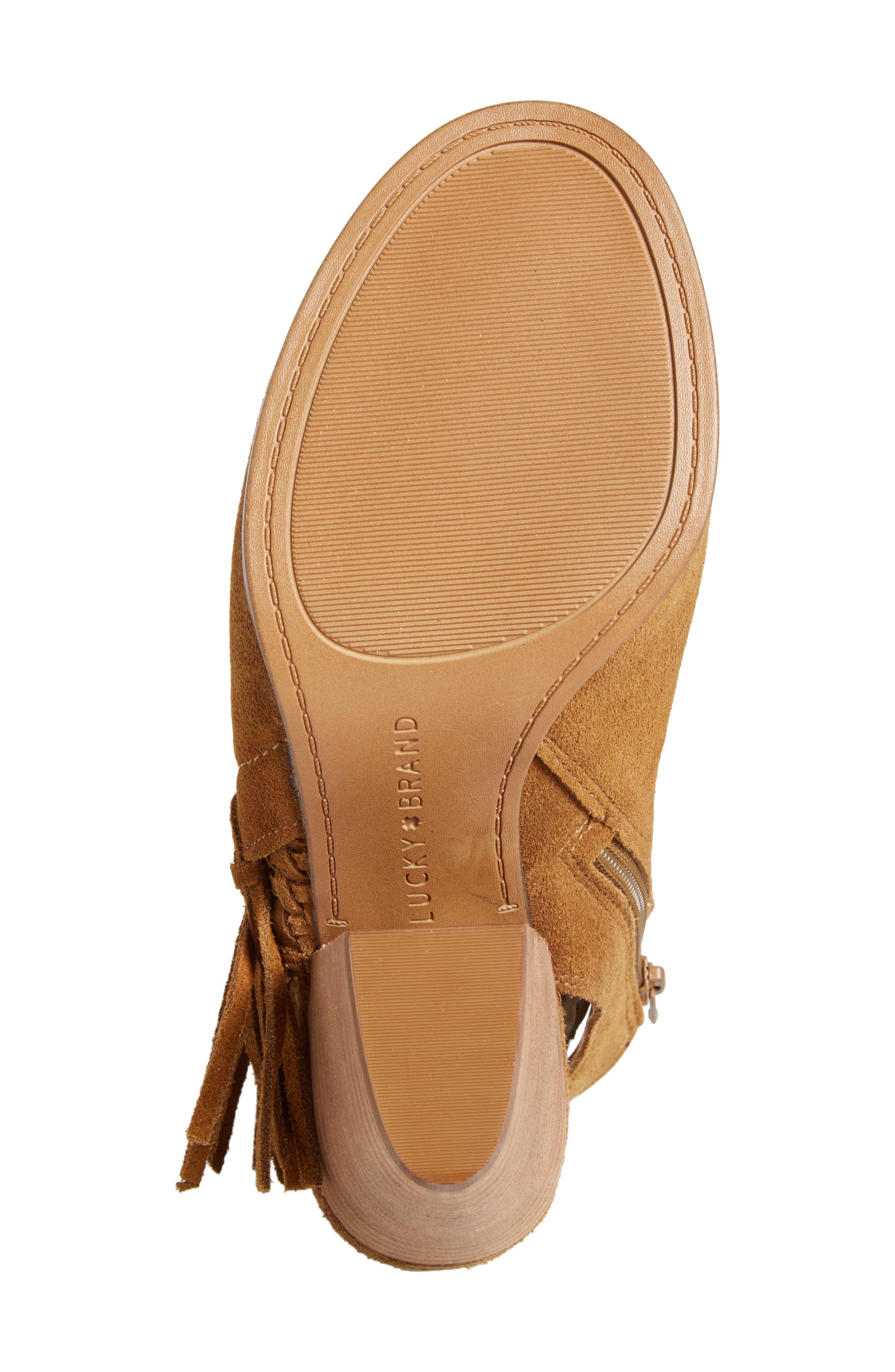 Alternate Image 6  - Lucky Brand Ointlee Fringe Bootie Sandal (Women)