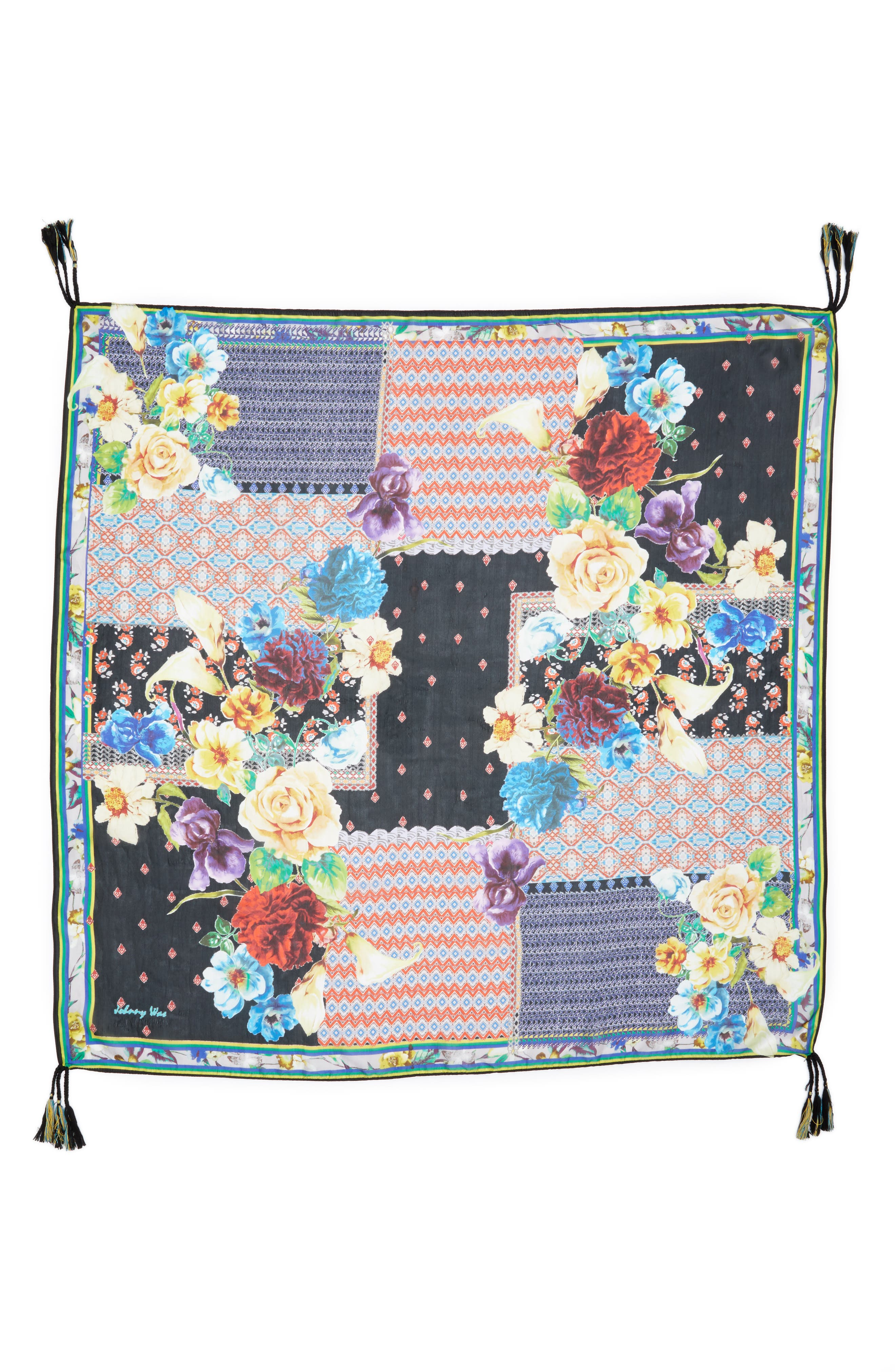 Alternate Image 3  - Johnny Was Mabel Silk Square Scarf
