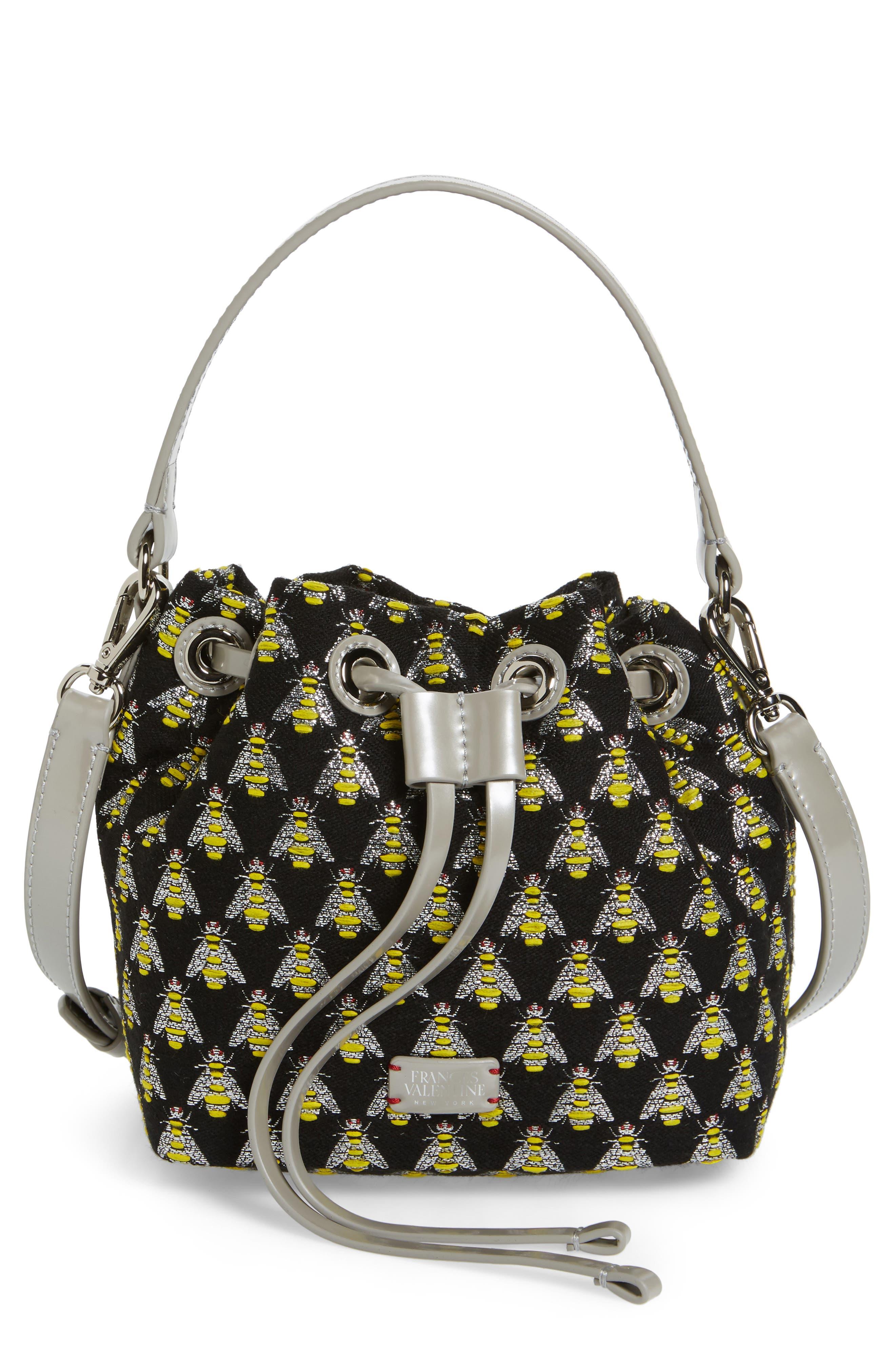 Frances Valentine Ann Little Bee Woven Bucket Bag