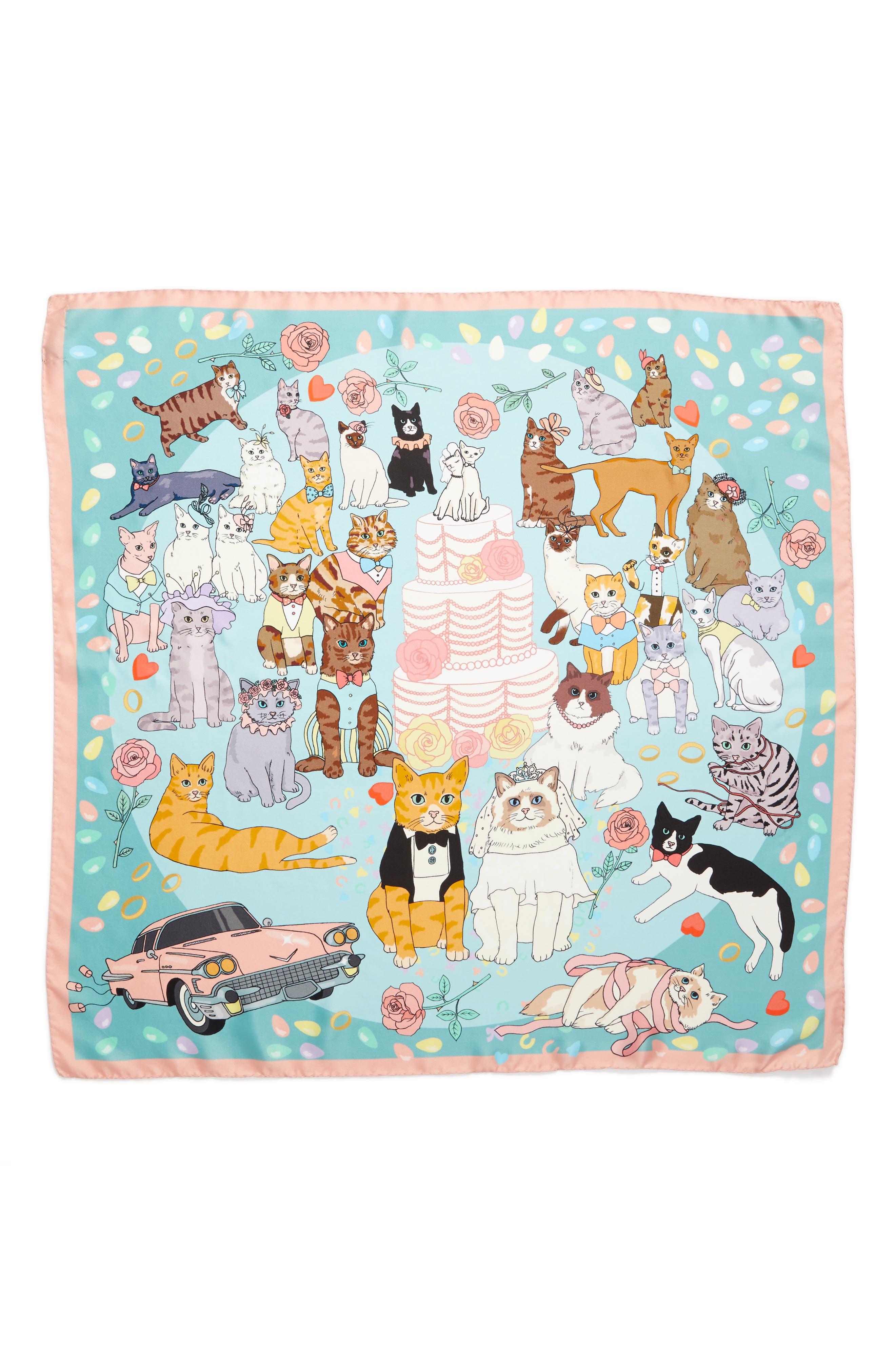 Alternate Image 2  - Karen Mabon Confetti Square Silk Scarf