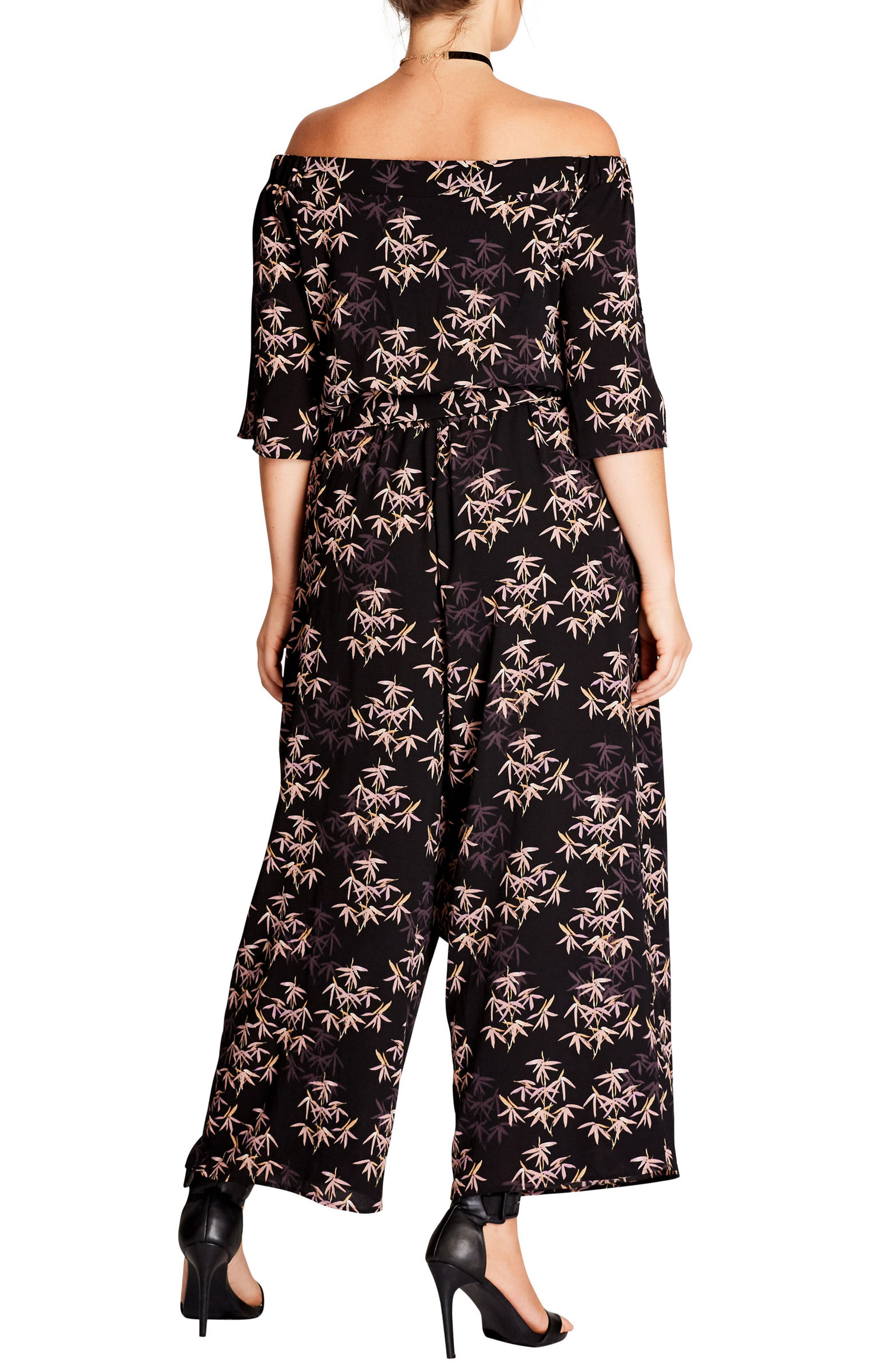 Bamboo Print Jumpsuit,                             Alternate thumbnail 2, color,                             Bamboo
