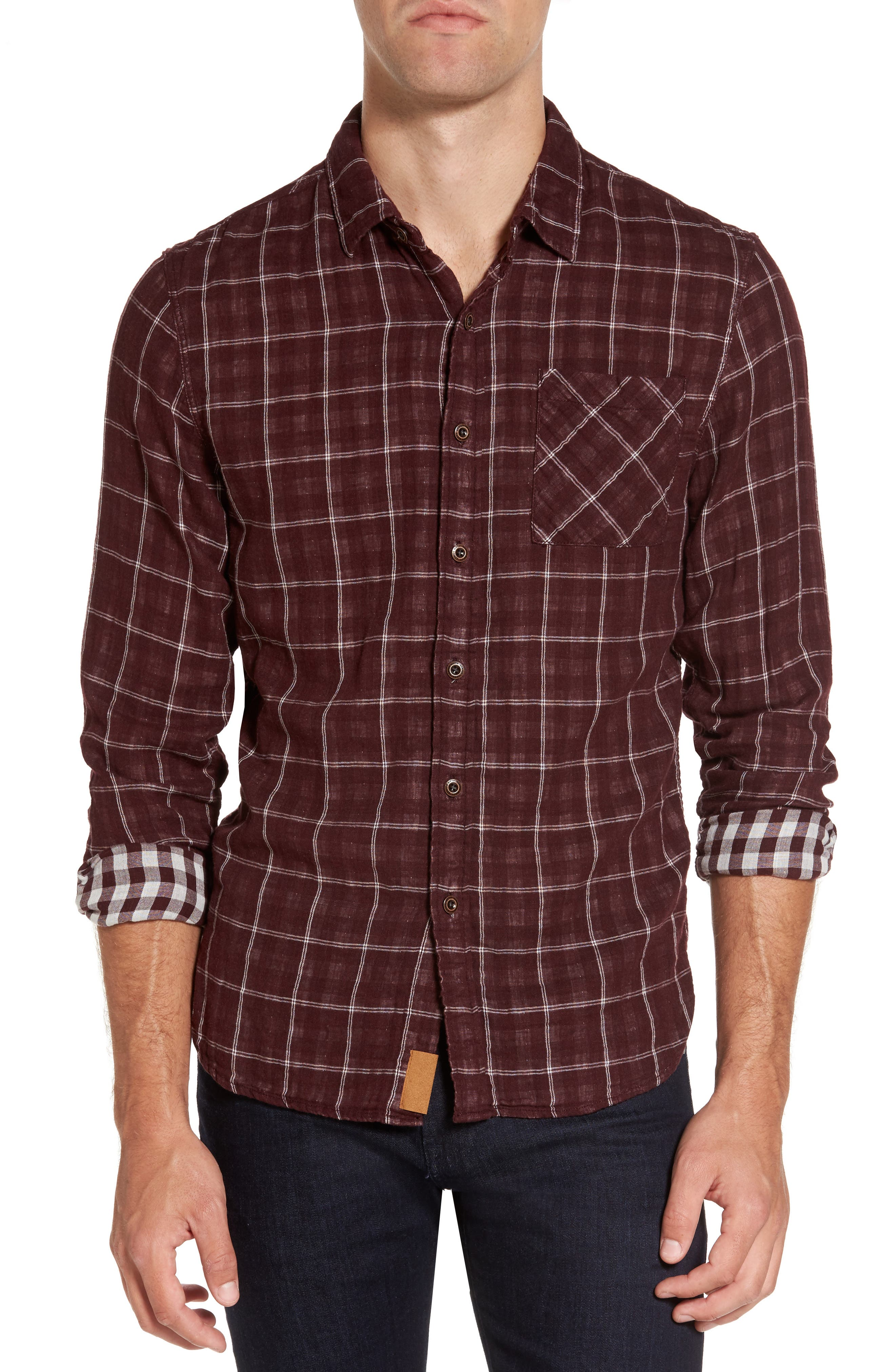 Alternate Image 1 Selected - Nifty Genius Truman Plaid Sport Shirt