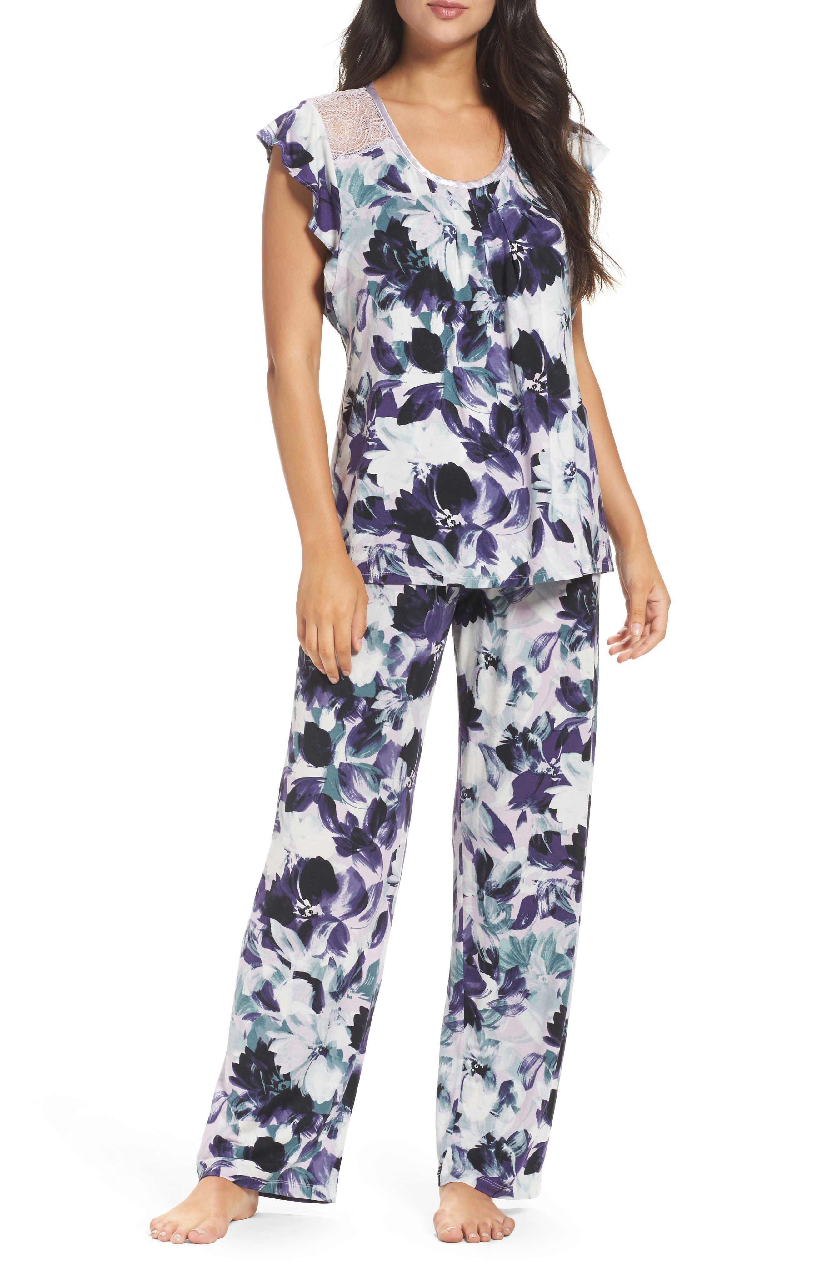 Midnight by Carole Hochman Long Pajamas