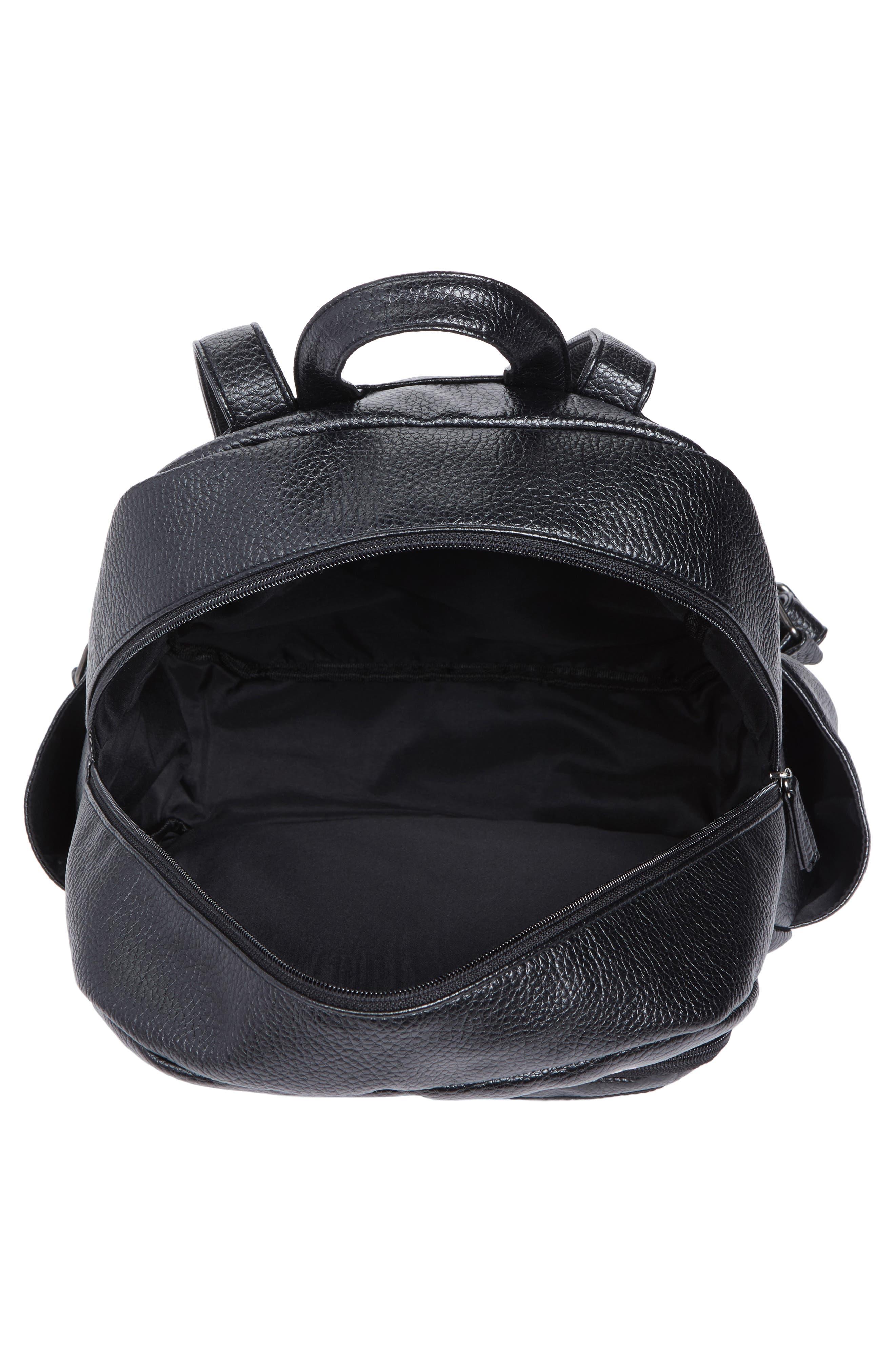 Embroidered Backpack,                             Alternate thumbnail 6, color,                             Black