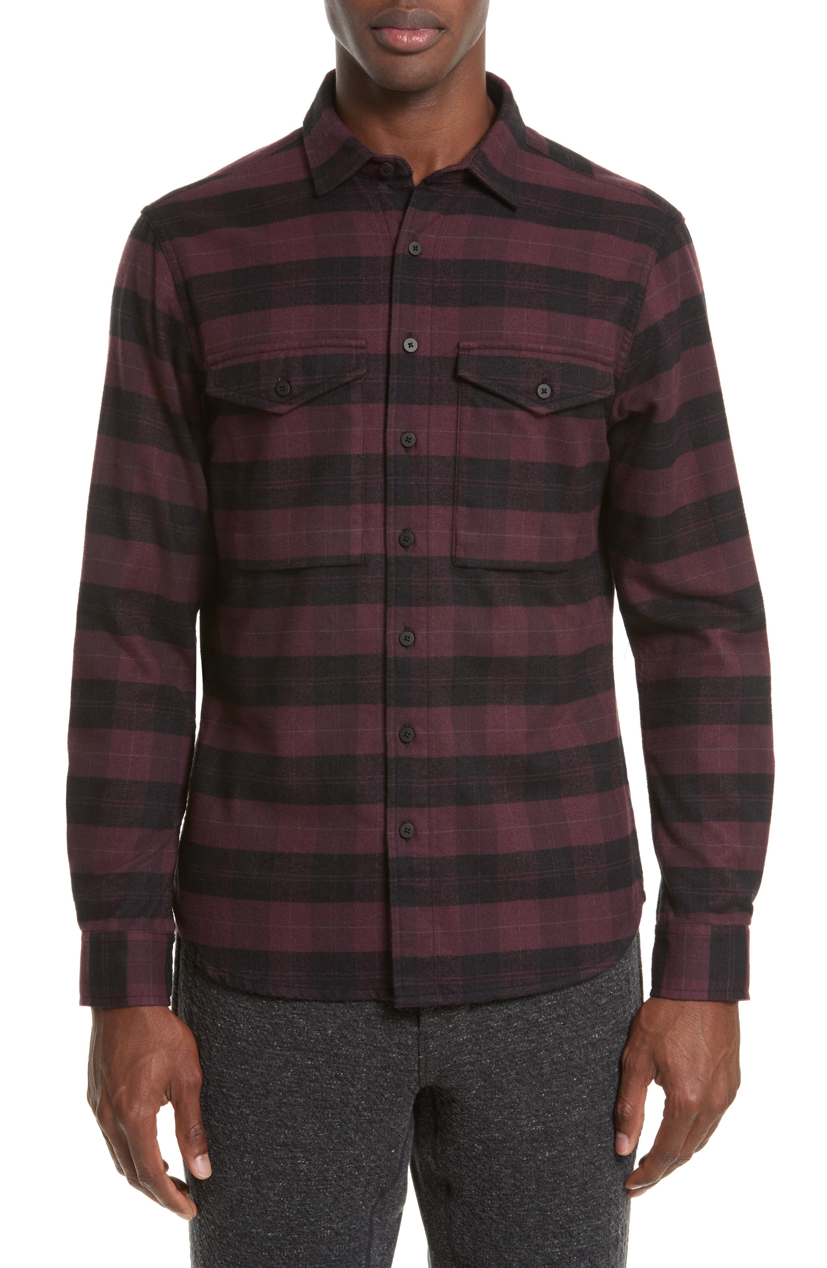 wings + horns Plaid Flannel Shirt