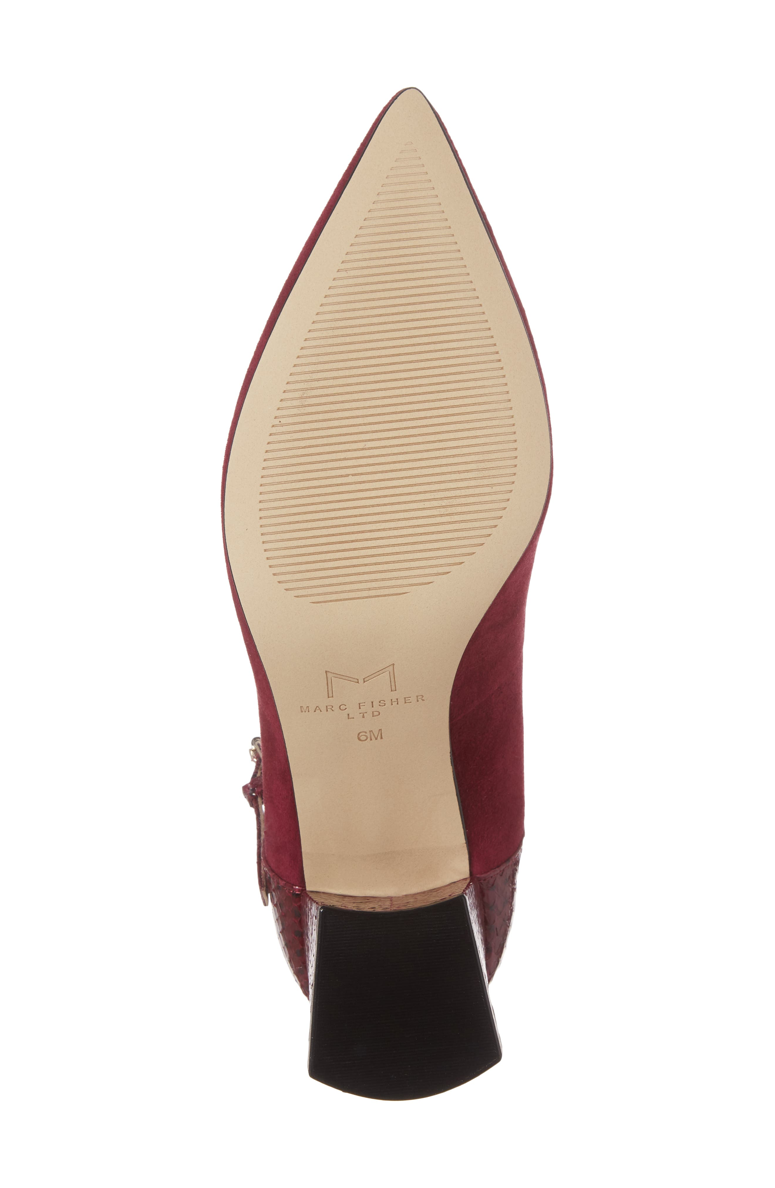 Zullys Snake Embossed Mary Jane Pump,                             Alternate thumbnail 6, color,                             Berry/ Berry Leather