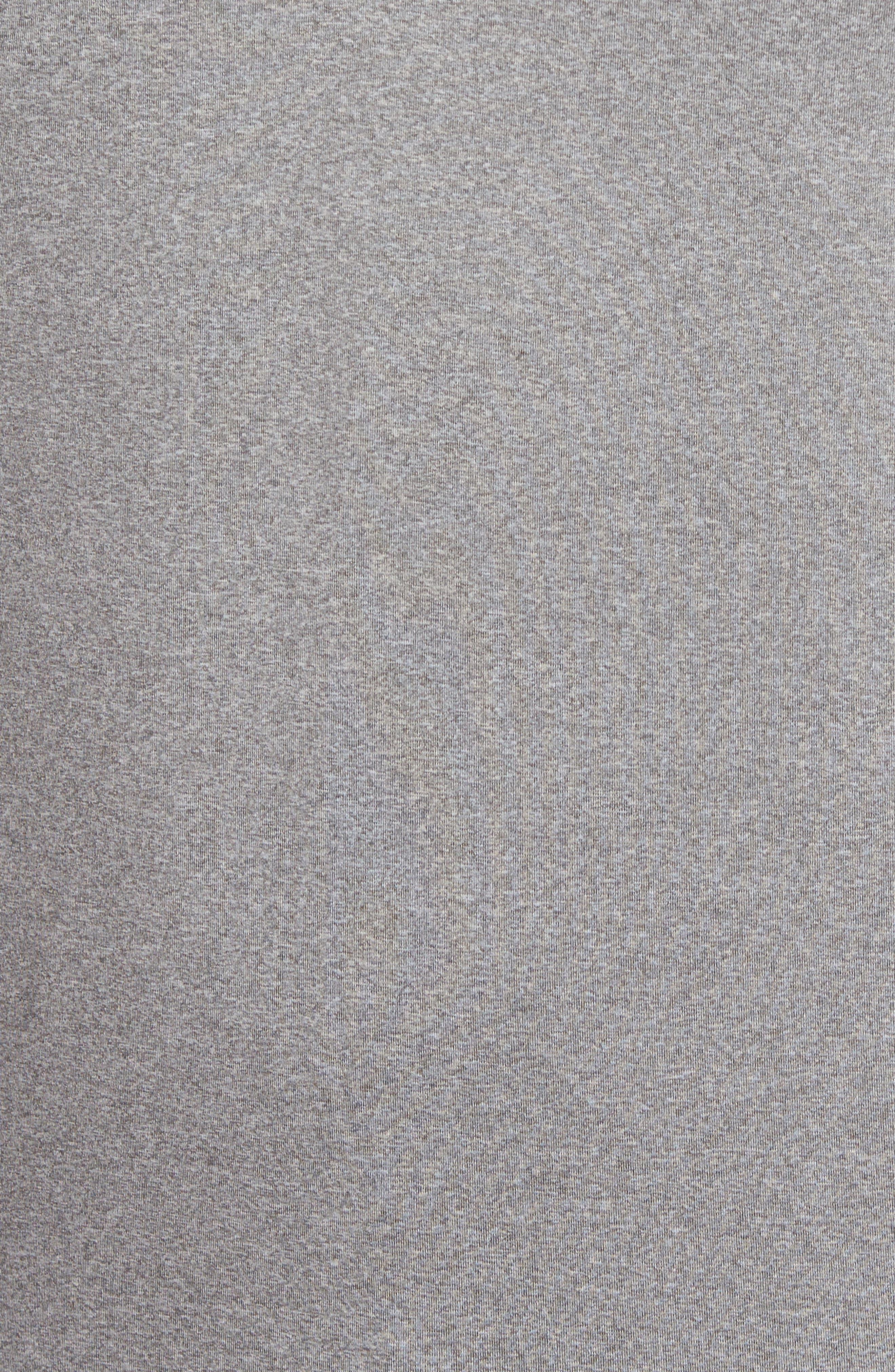Sway Classic Fit Zip Raglan Pullover,                             Alternate thumbnail 5, color,                             Black