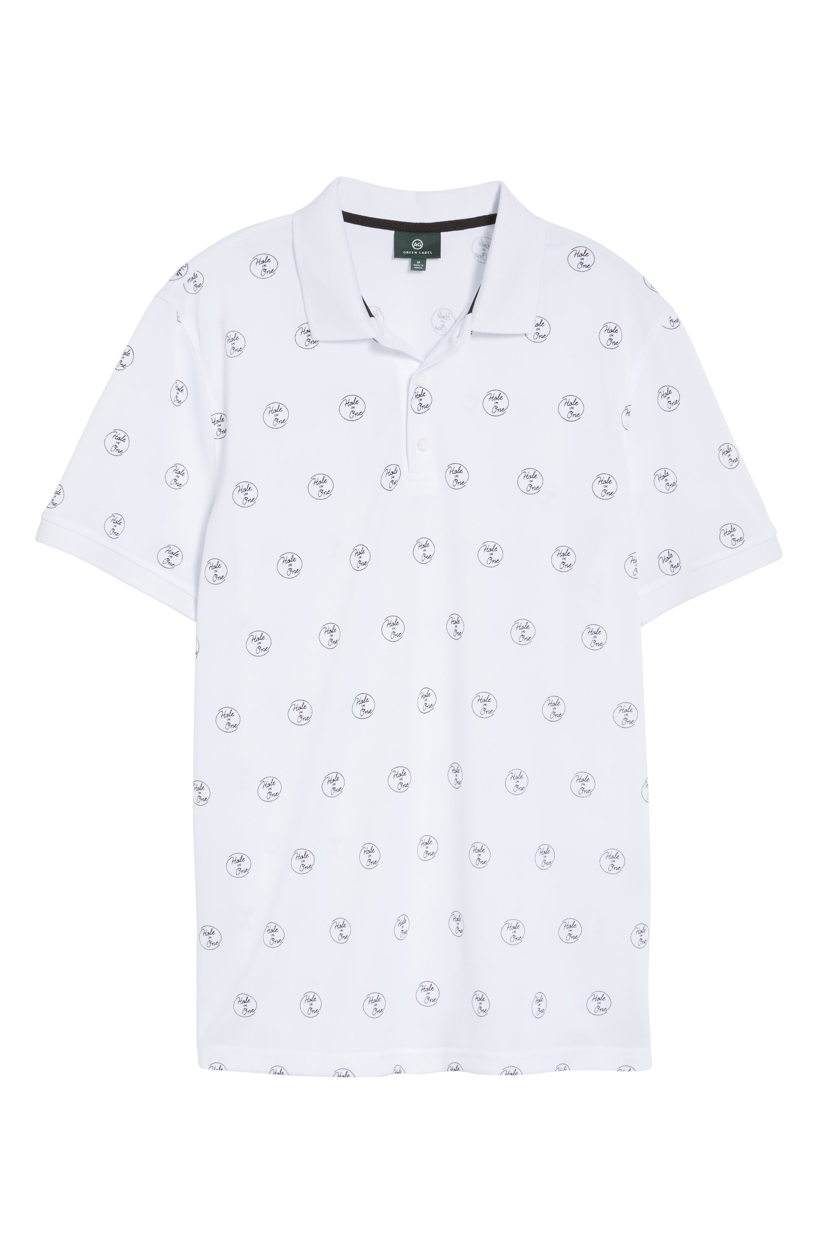 Hole in One Print Polo,                             Alternate thumbnail 6, color,                             Hole In One Print
