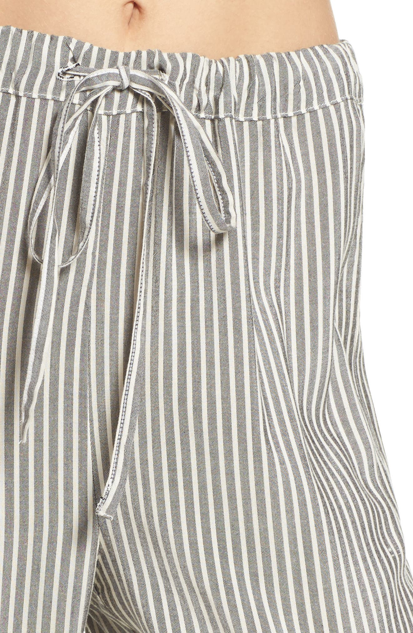 Stripe Pajama Pants,                             Alternate thumbnail 6, color,                             Grey Stripe