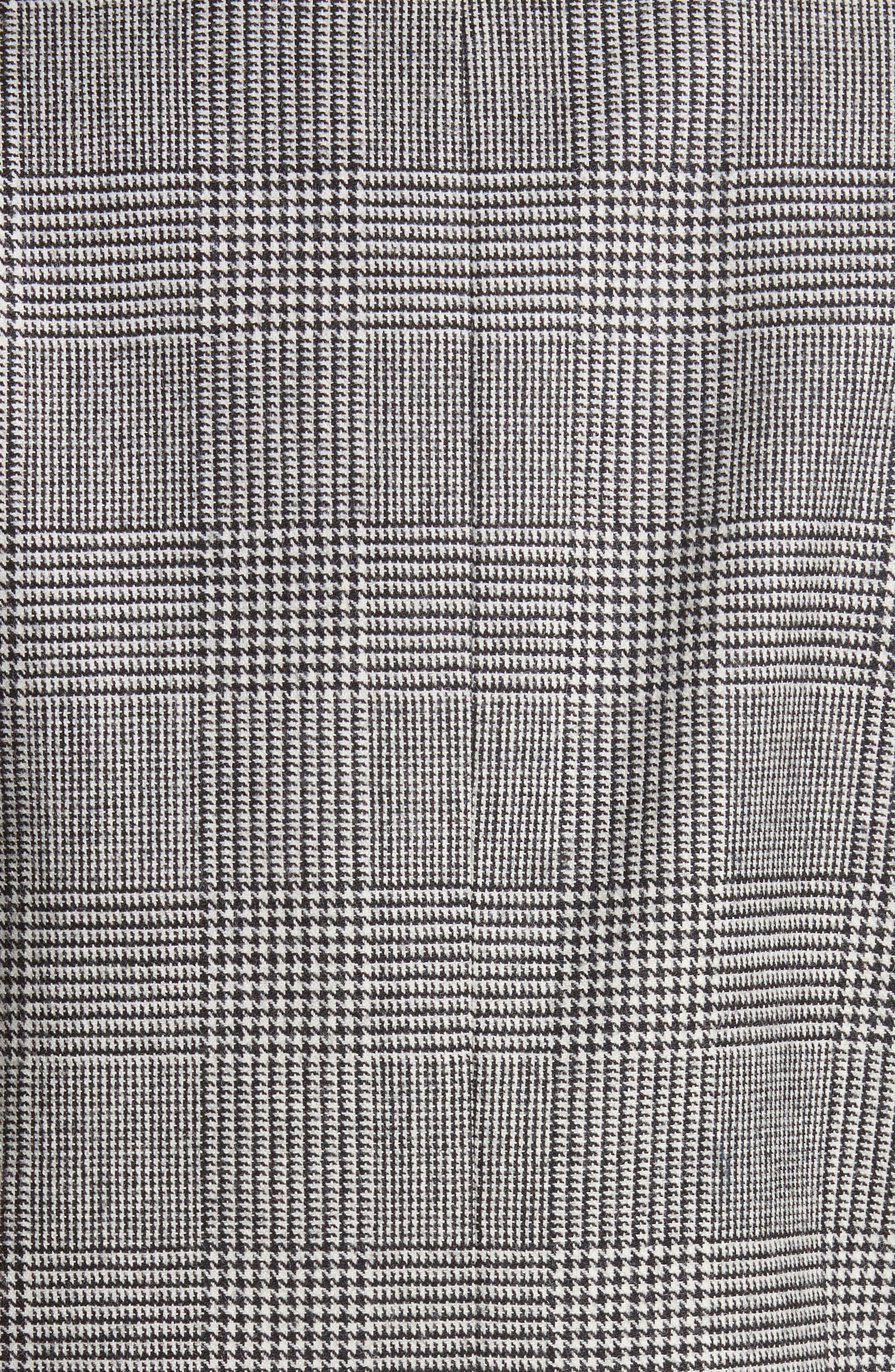 Glen Plaid Crop Jacket,                             Alternate thumbnail 7, color,                             Black/ White