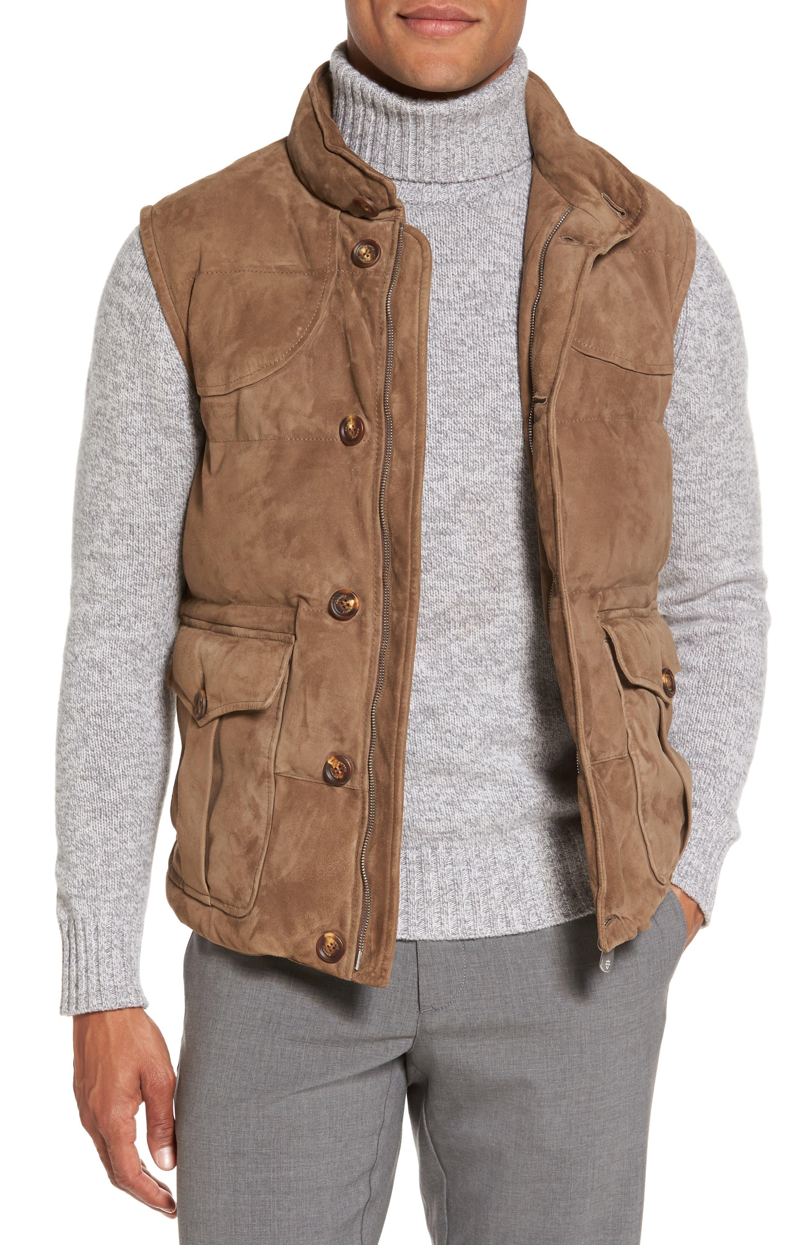 Alternate Image 1 Selected - Eleventy Suede Vest