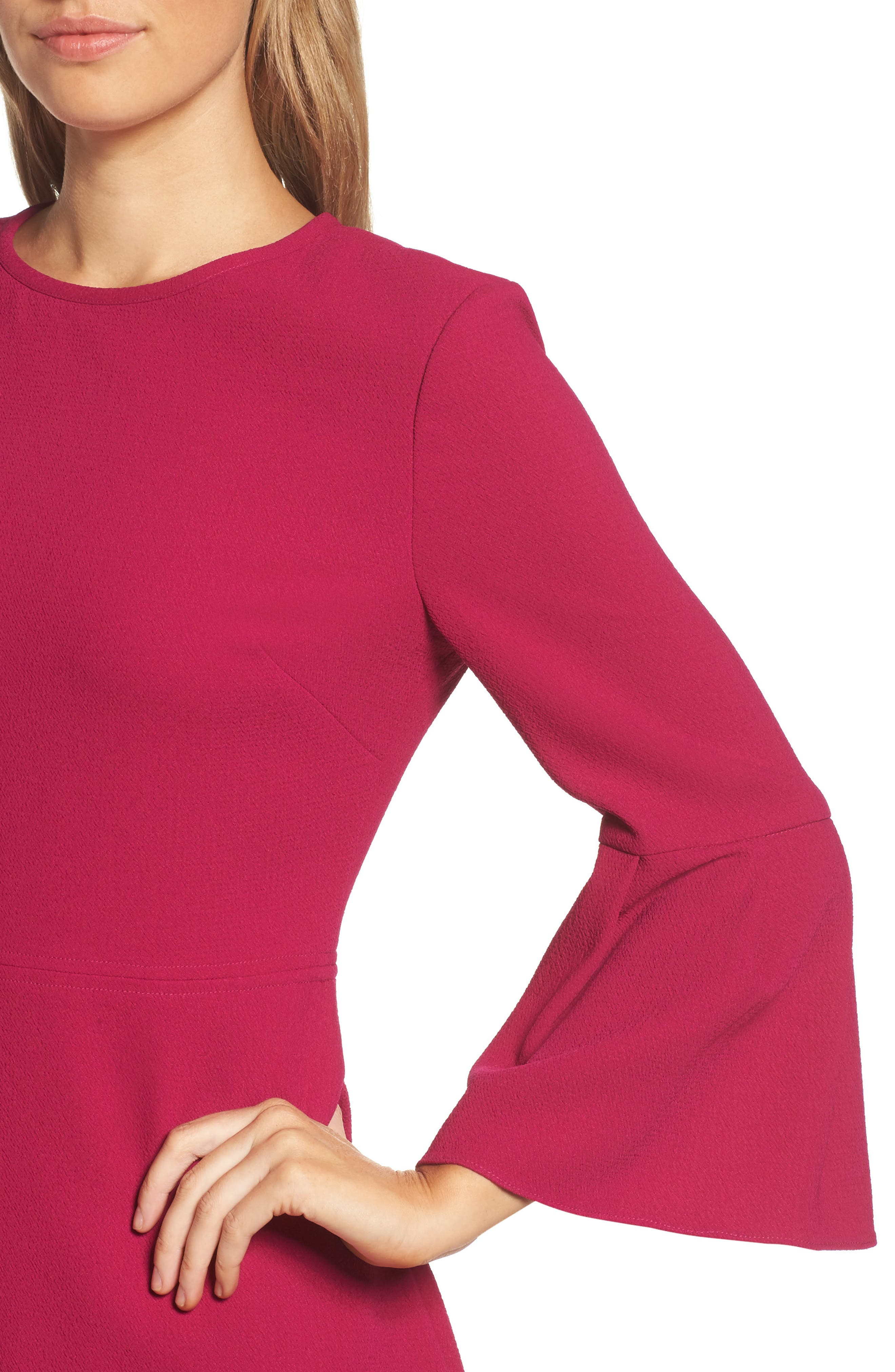 Alternate Image 4  - Eliza J Bell Sleeve Fit & Flare Dress