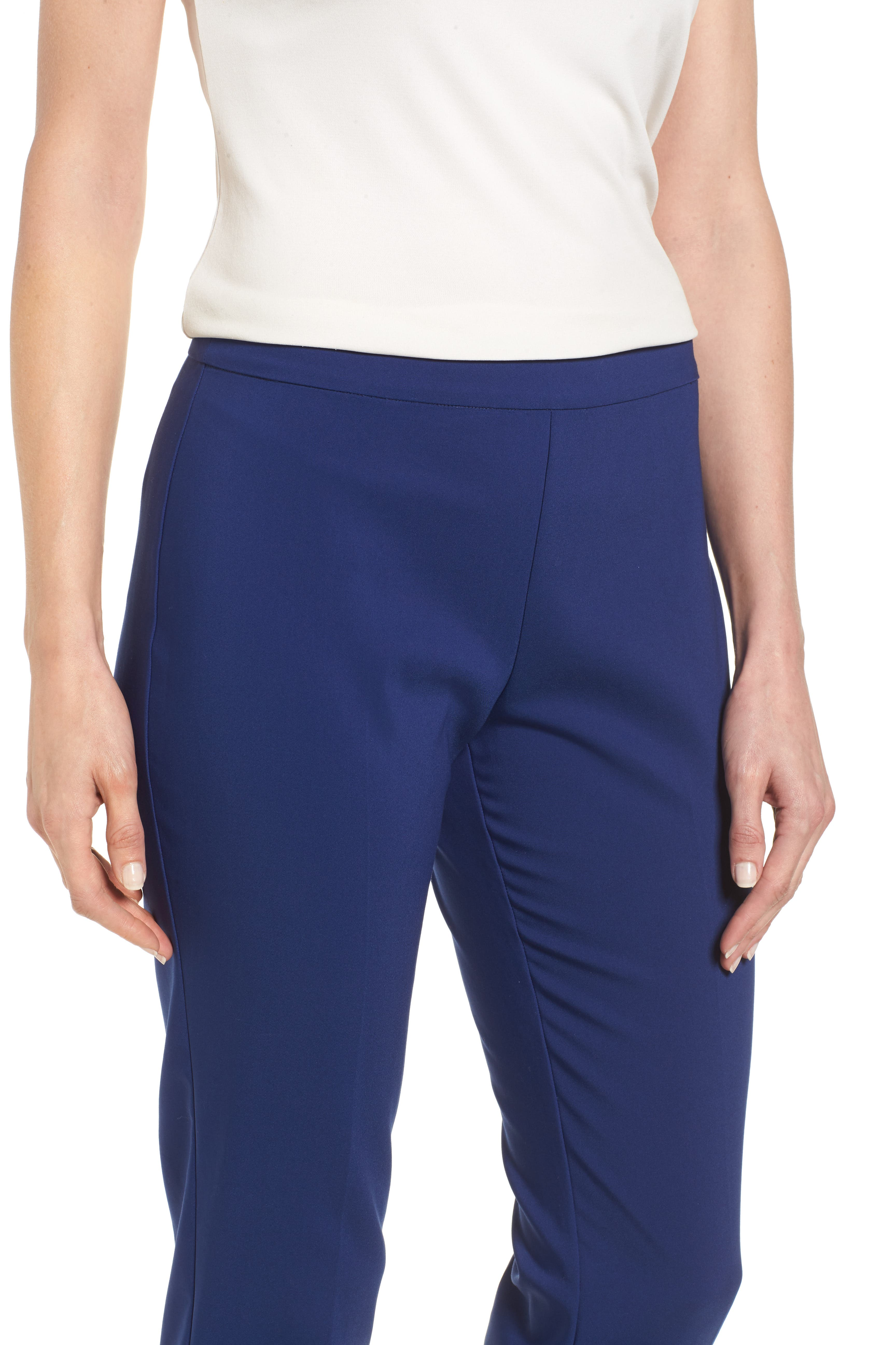 Jackie Pull-On Ankle Pants,                             Alternate thumbnail 4, color,                             Blue Depths