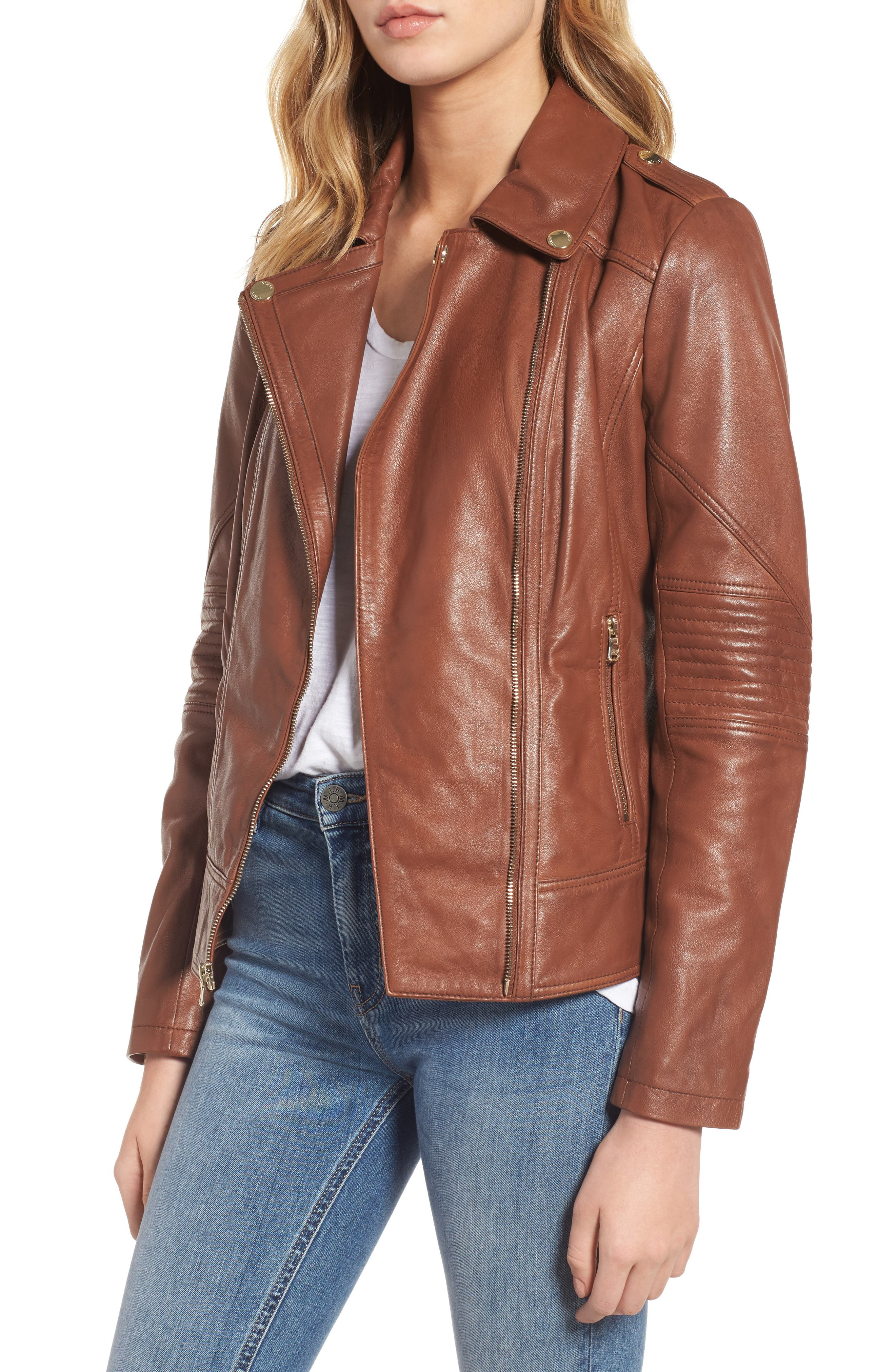 Alternate Image 1 Selected - Guess Leather Moto Jacket