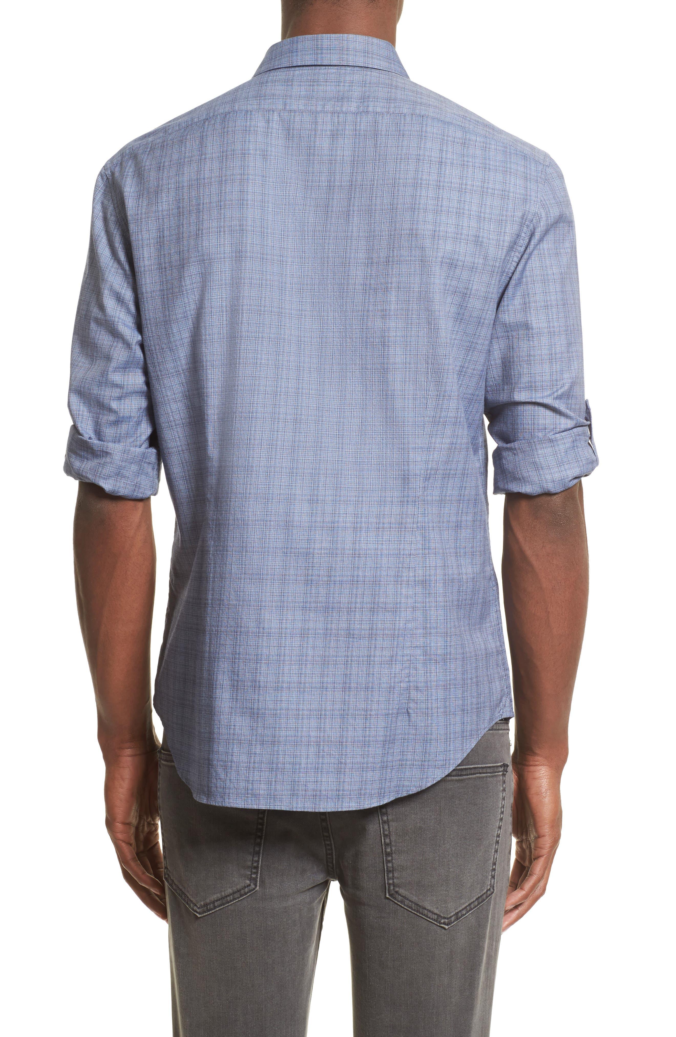 Alternate Image 2  - John Varvatos Collection Moiré Check Sport Shirt