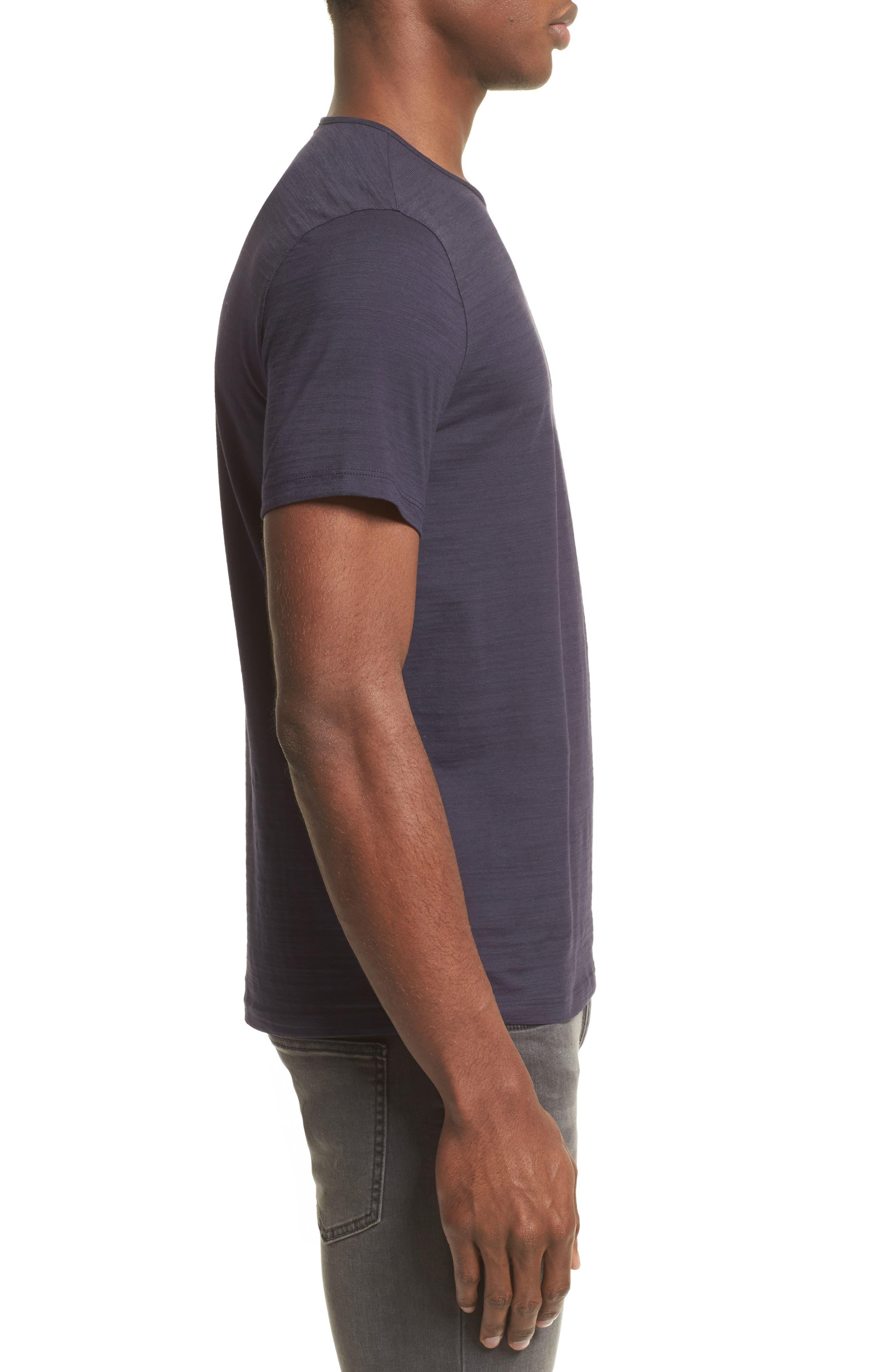 Slub T-Shirt,                             Alternate thumbnail 3, color,                             Antique Purple