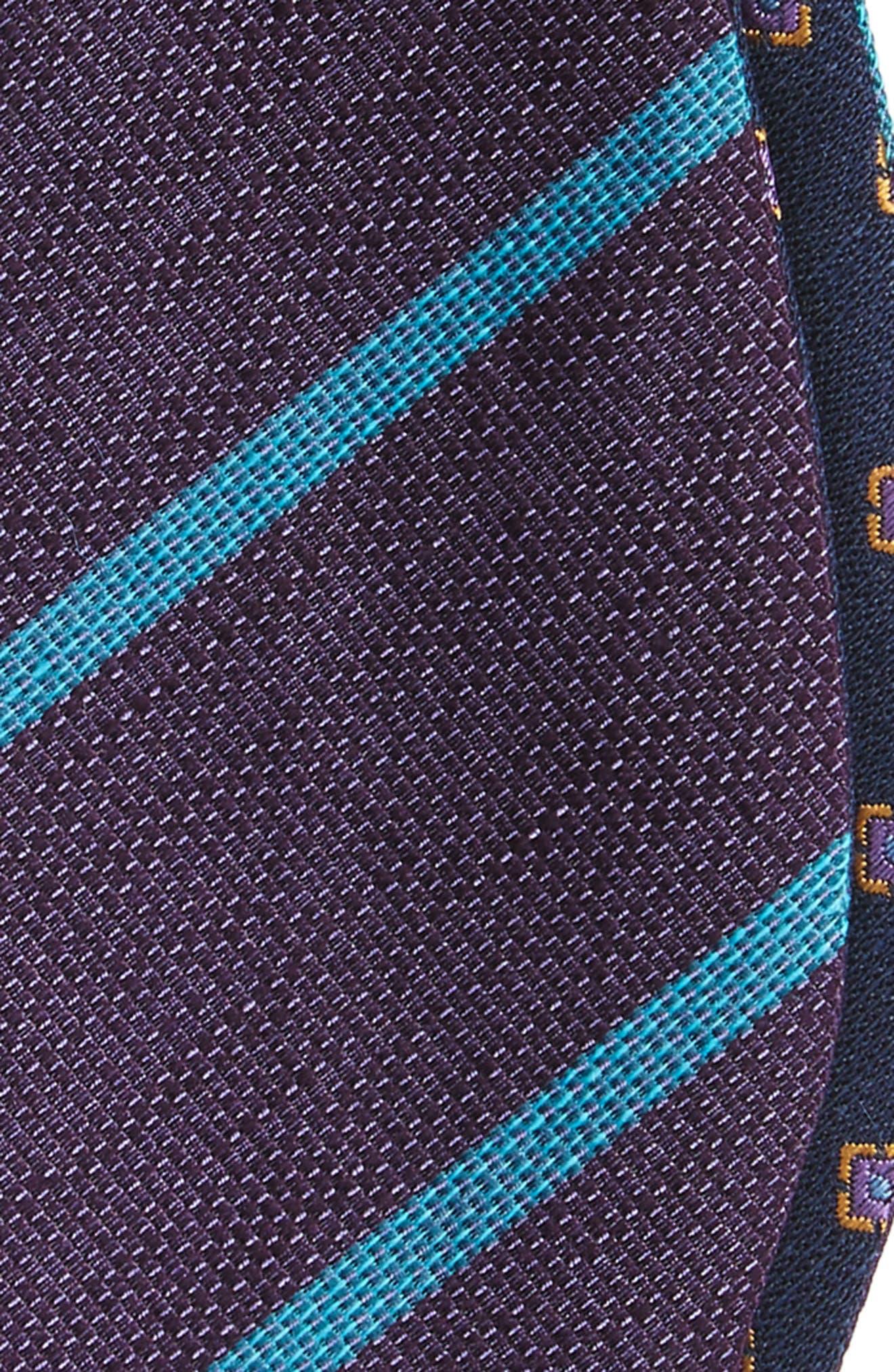 Alternate Image 3  - The Tie Bar Spring Break Reversible Silk & Linen Bow Tie