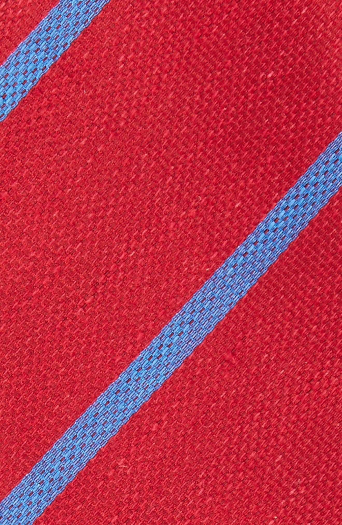 Spring Break Reversible Silk & Linen Bow Tie,                             Alternate thumbnail 3, color,                             Red