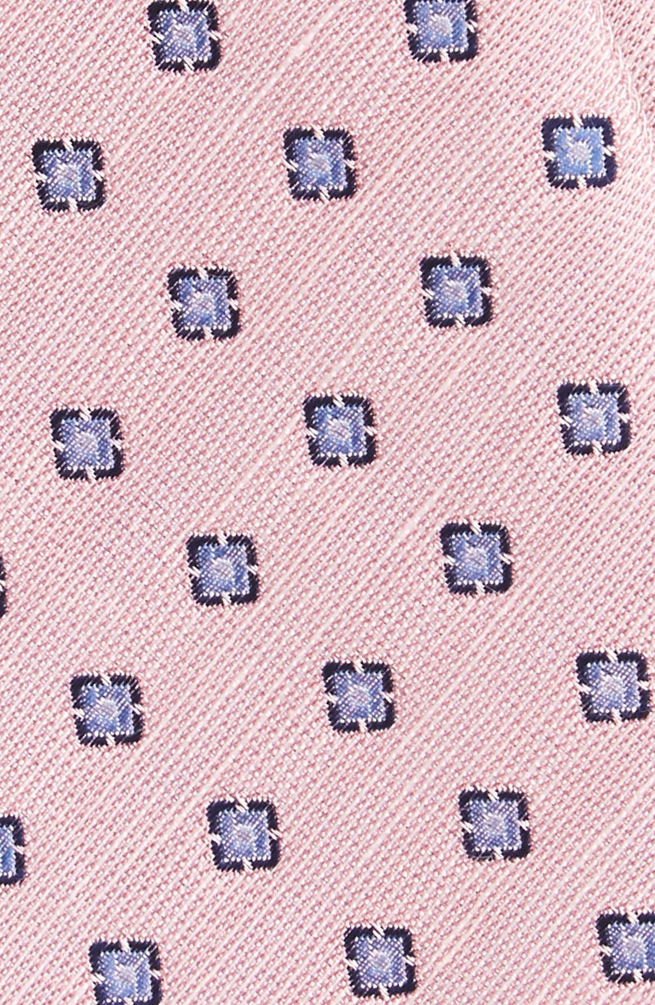 Alternate Image 3  - The Tie Bar Medallion Scene Silk & Linen Bow Tie