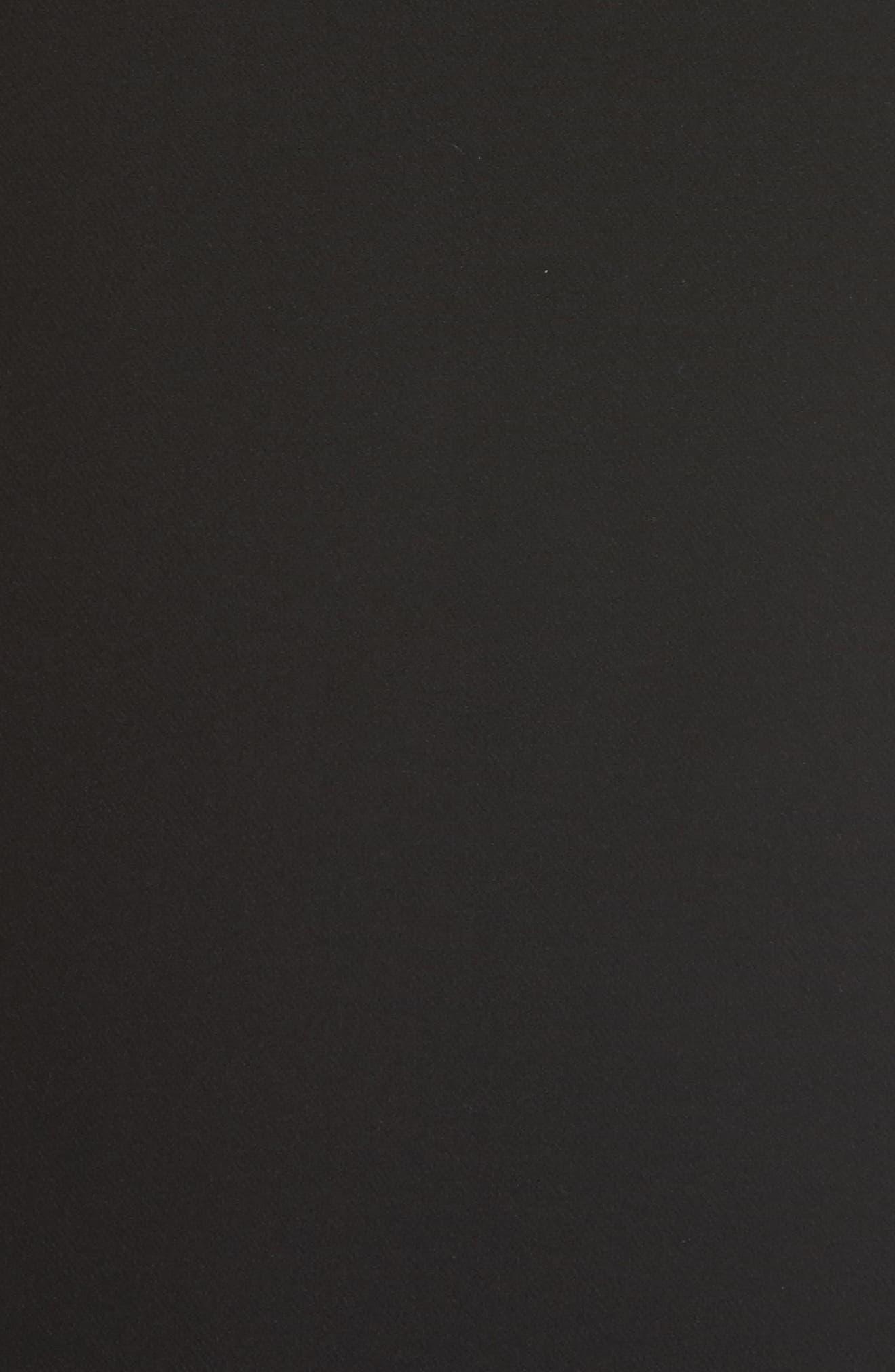 Italian Cady Side Slit Skirt,                             Alternate thumbnail 5, color,                             Black