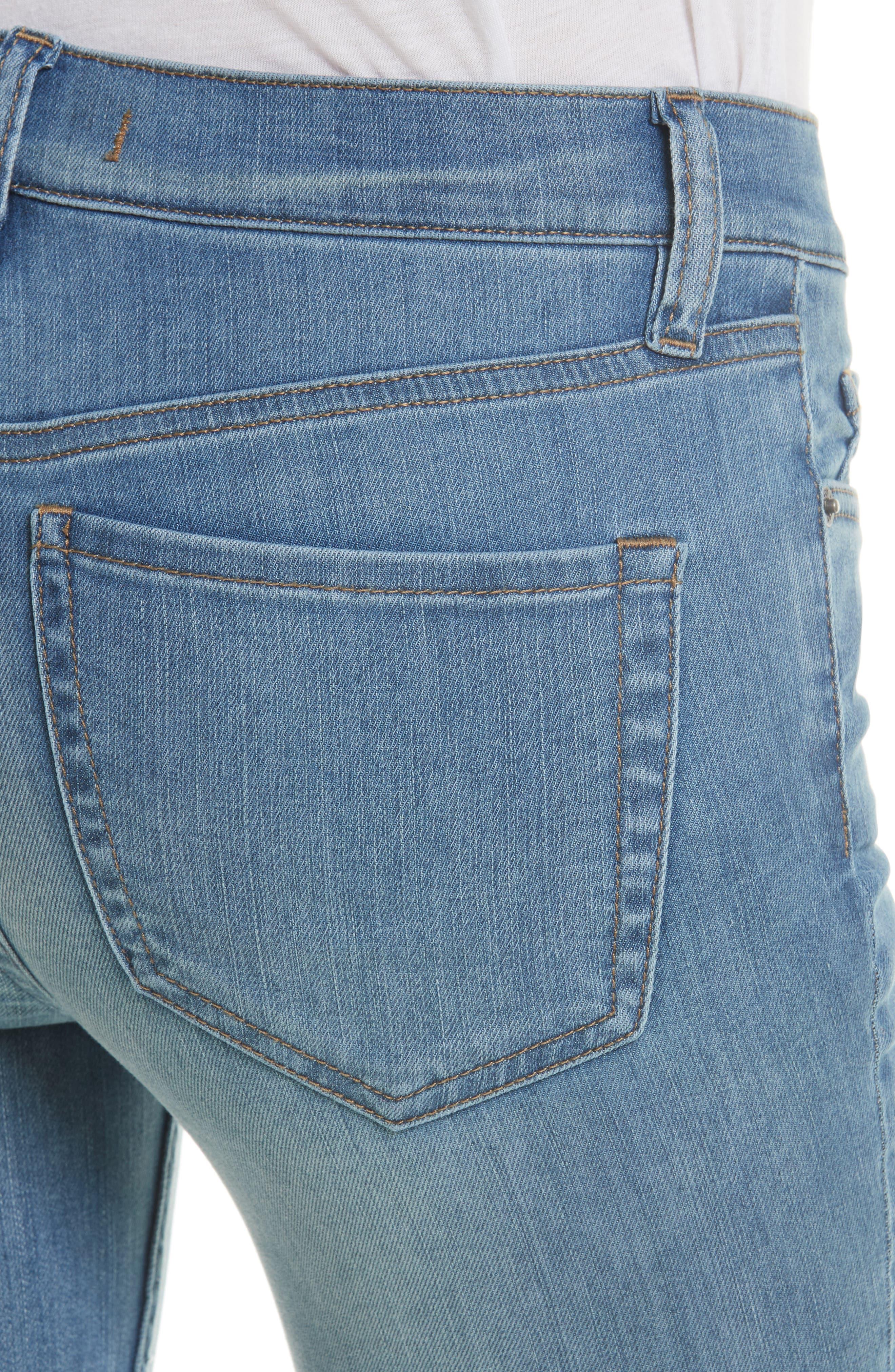 Alternate Image 4  - Free People Reagan Crop Skinny Jeans (Sky)