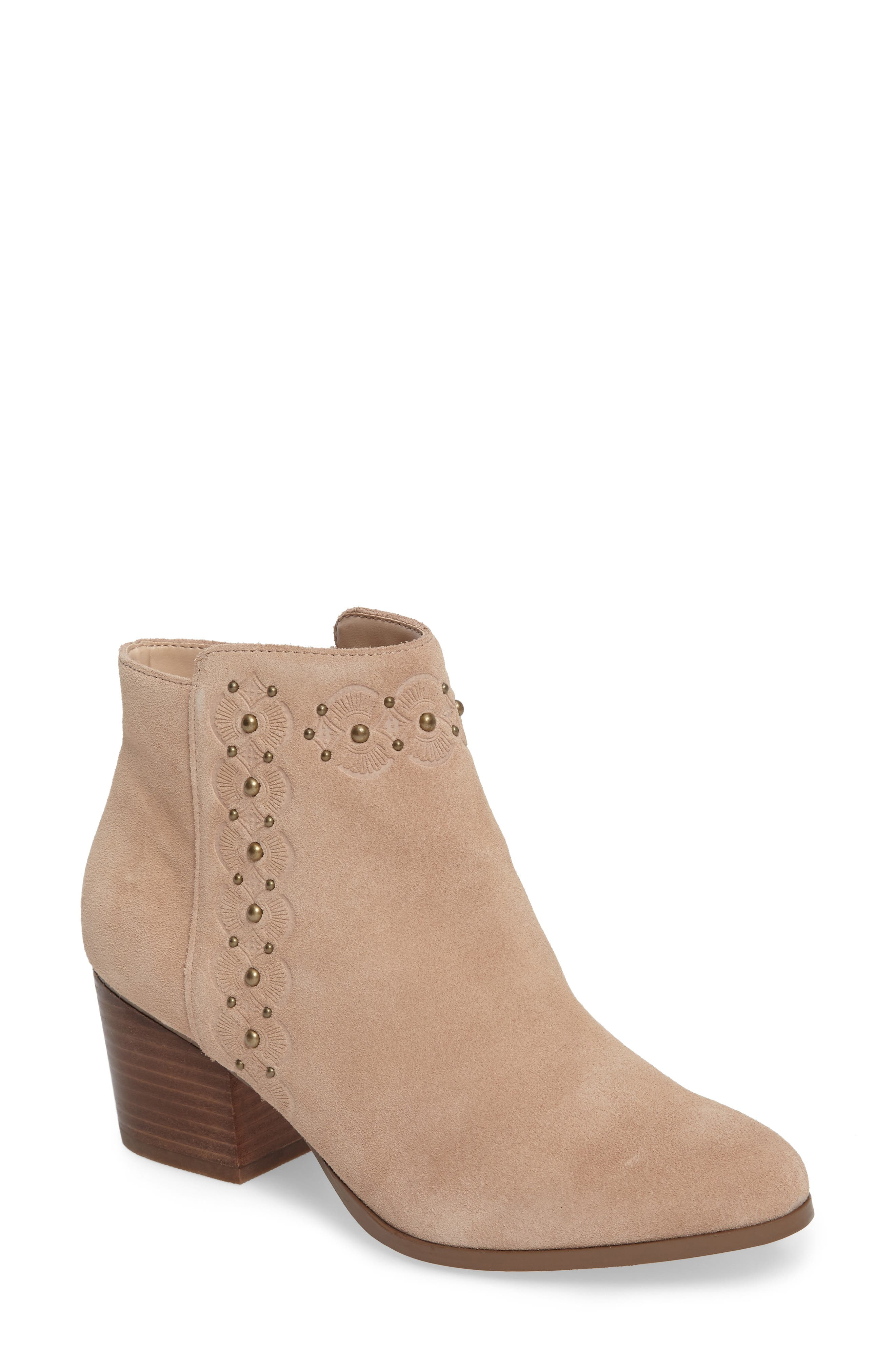 Alternate Image 1 Selected - Sole Society Gala Studded Embossed Bootie (Women)