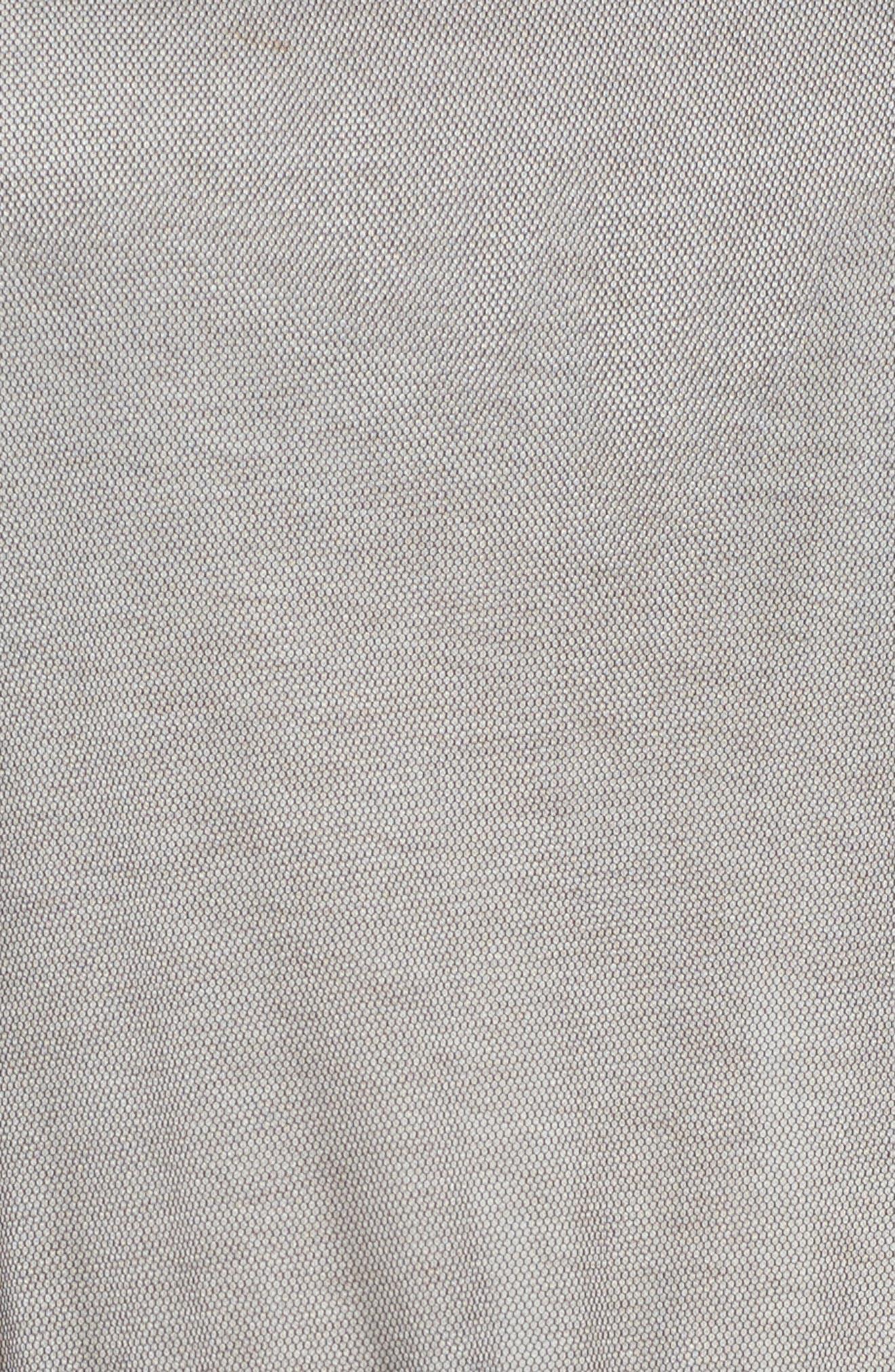 Tulle Drop Waist Midi Dress,                             Alternate thumbnail 5, color,                             Black