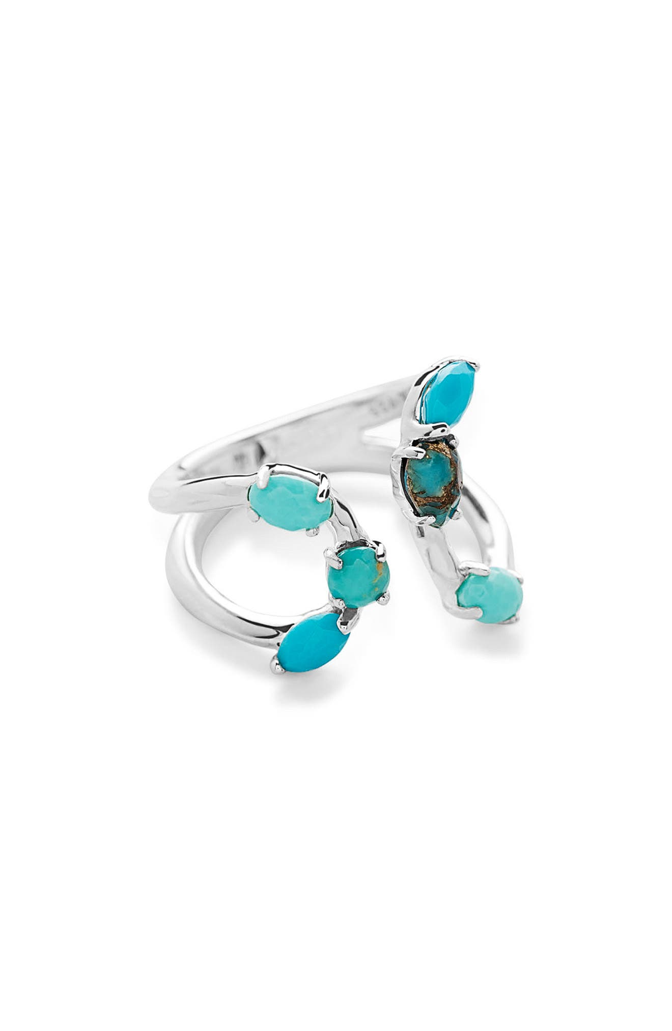 Rock Candy Bypass Ring,                         Main,                         color, Turquoise