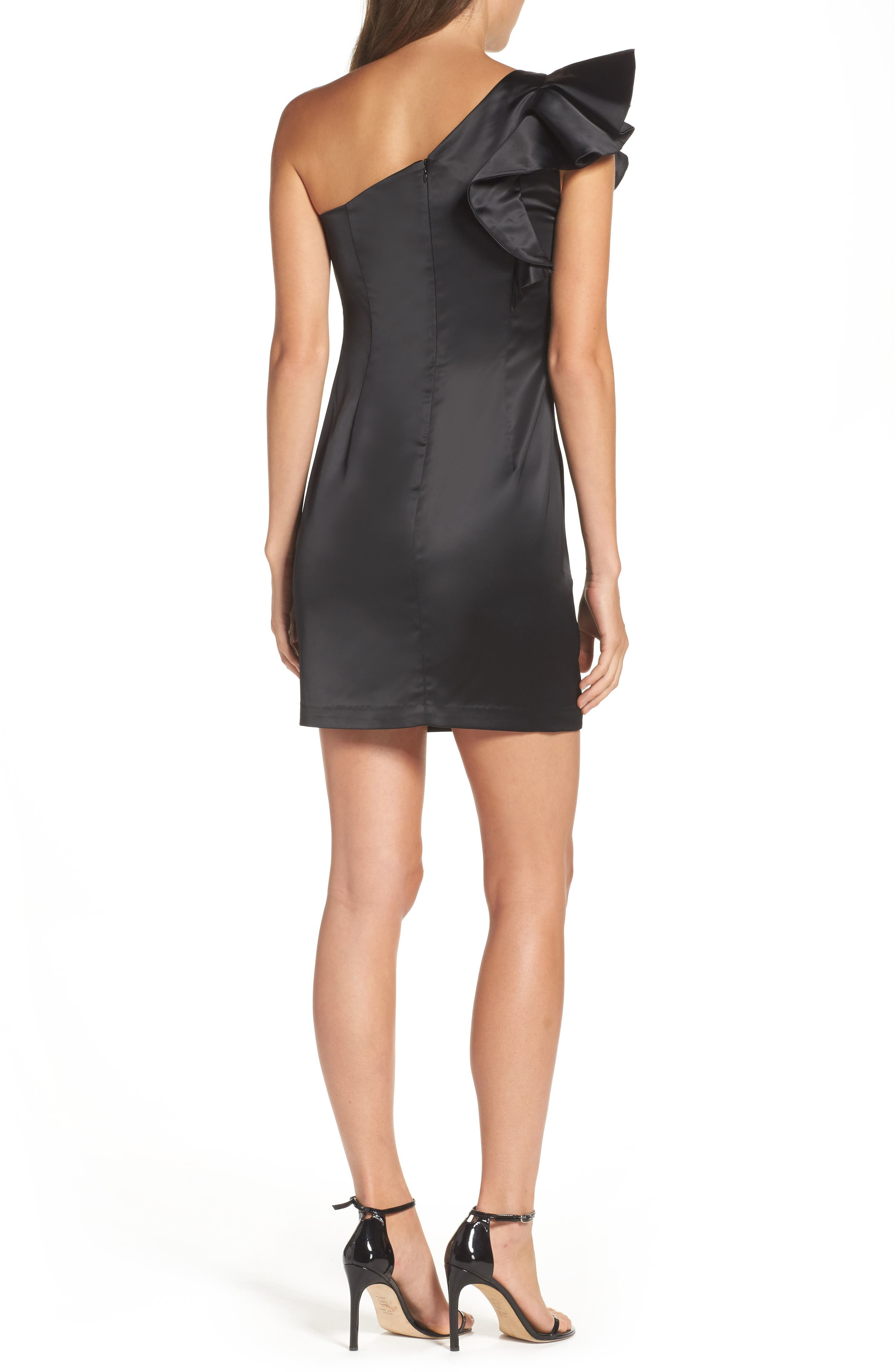 Alternate Image 2  - Bardot Estella Frill One-Shoulder Minidress