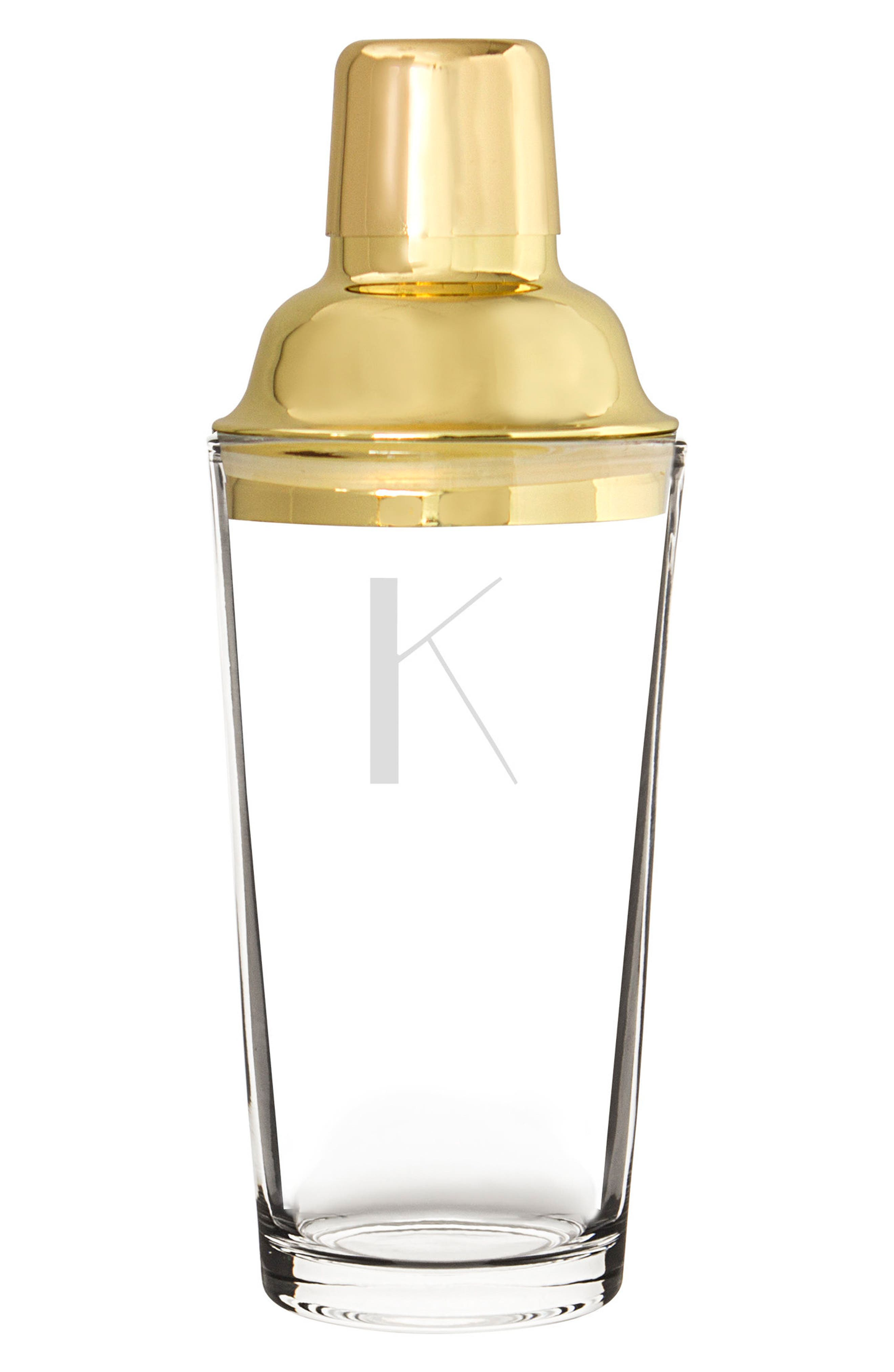 Cathy's Concepts Monogram Goldtone Cocktail Shaker
