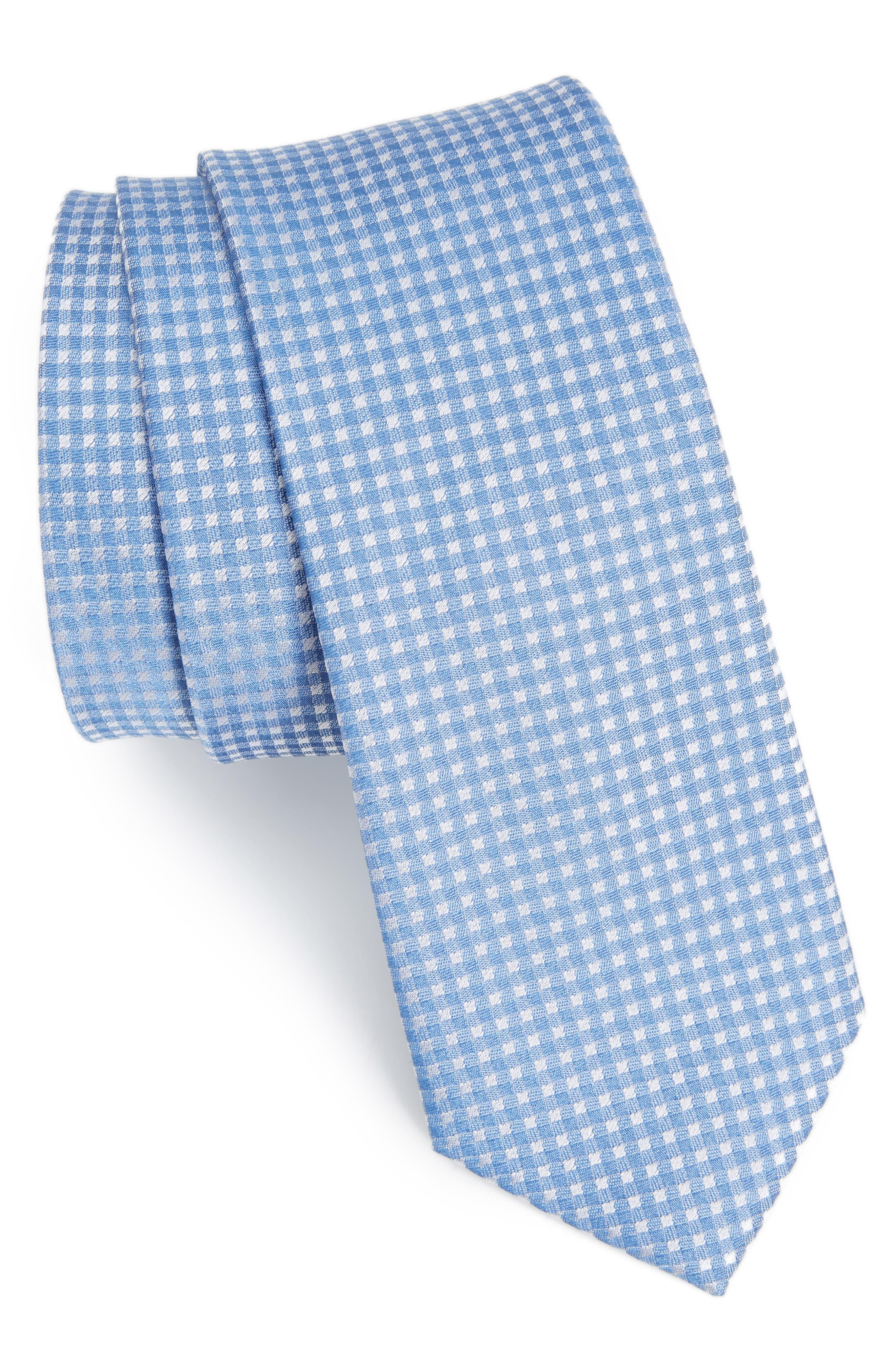Main Image - The Tie Bar Bedrock Floral Silk Tie