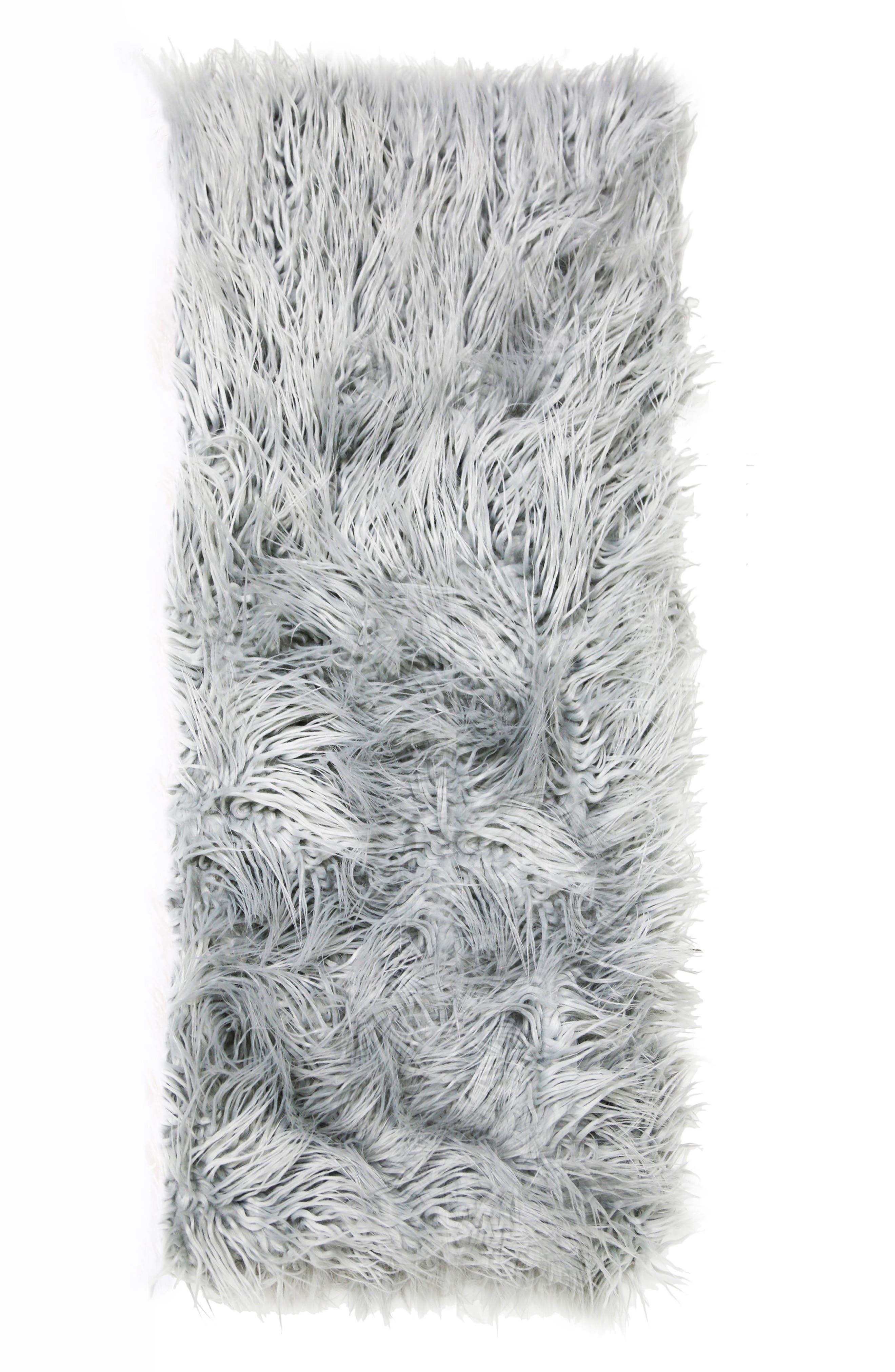 Eva Throw Blanket,                             Main thumbnail 1, color,                             Silver