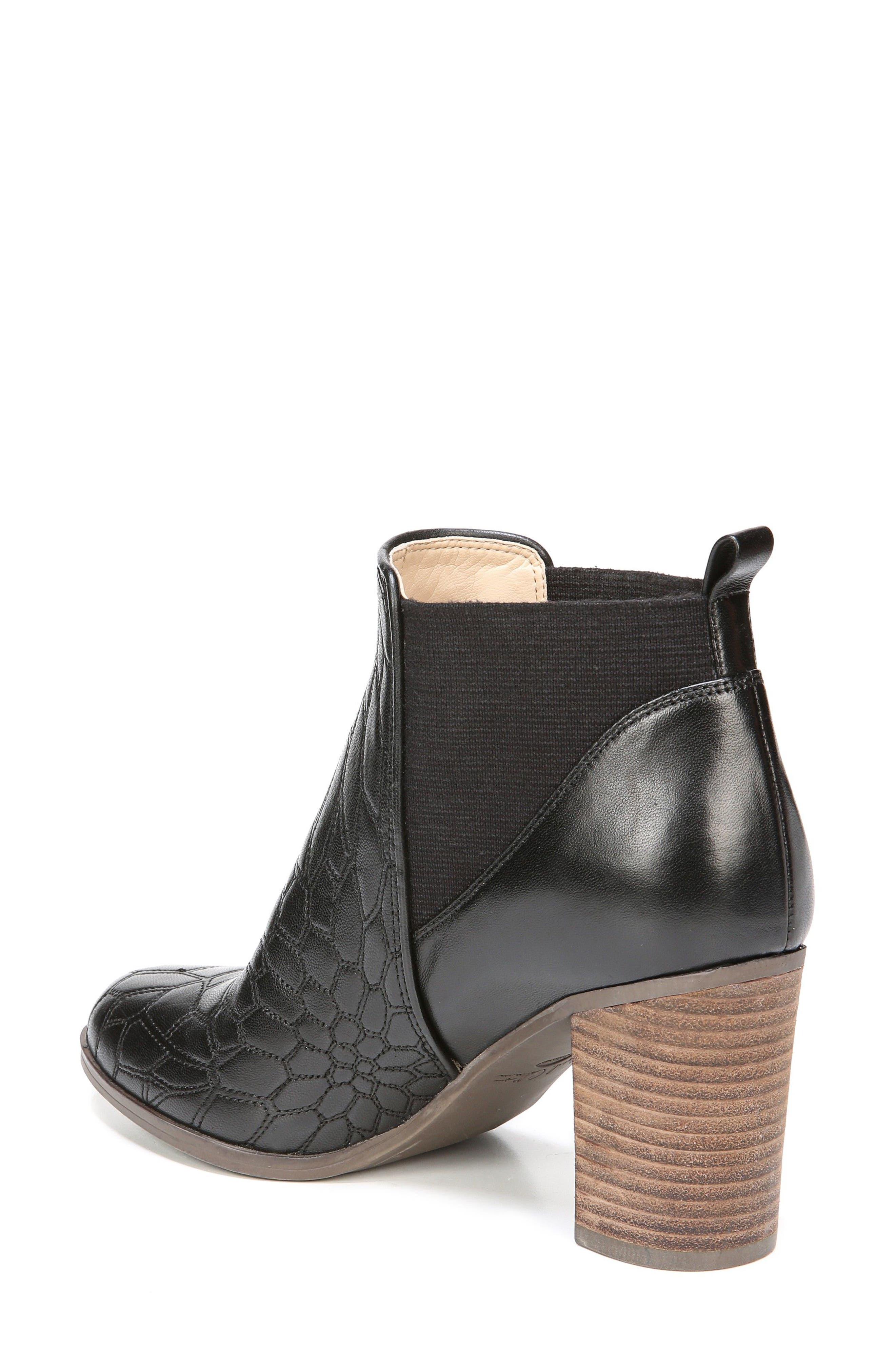 Dixie Bootie,                             Alternate thumbnail 2, color,                             Black Leather