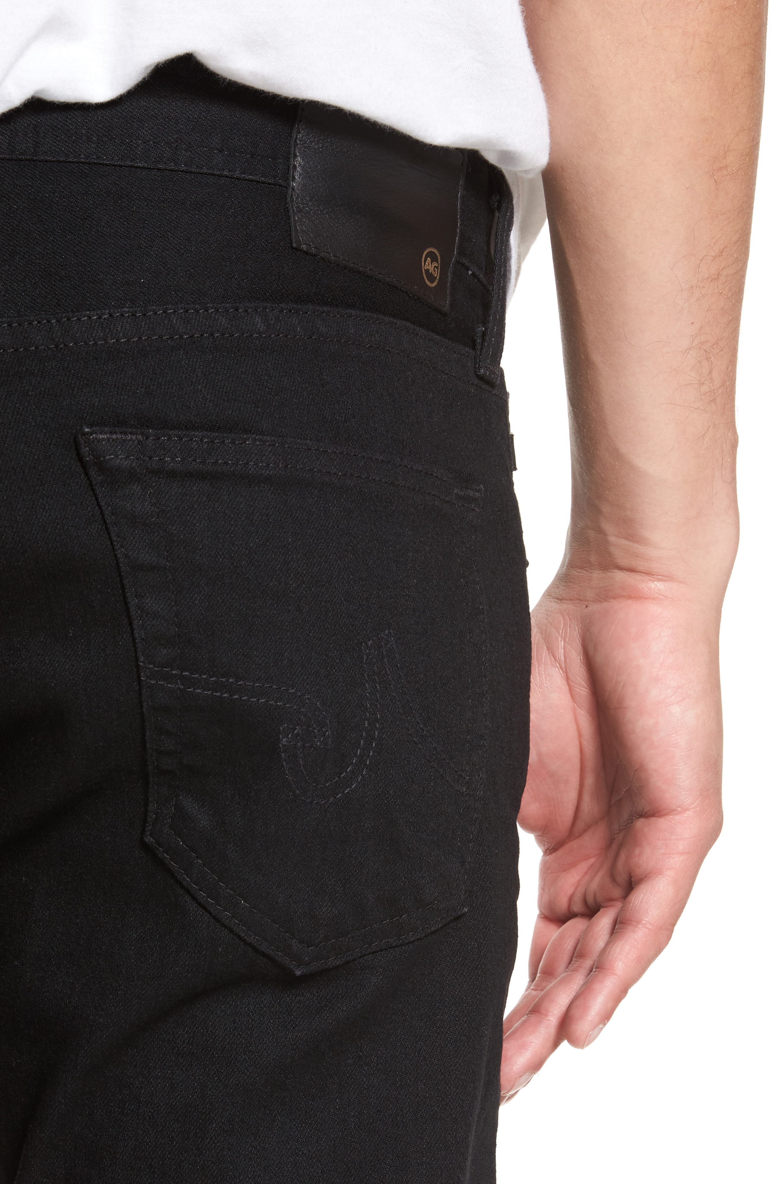 Alternate Image 4  - AG Dylan Slim Skinny Fit Jeans (Deep Pitch)