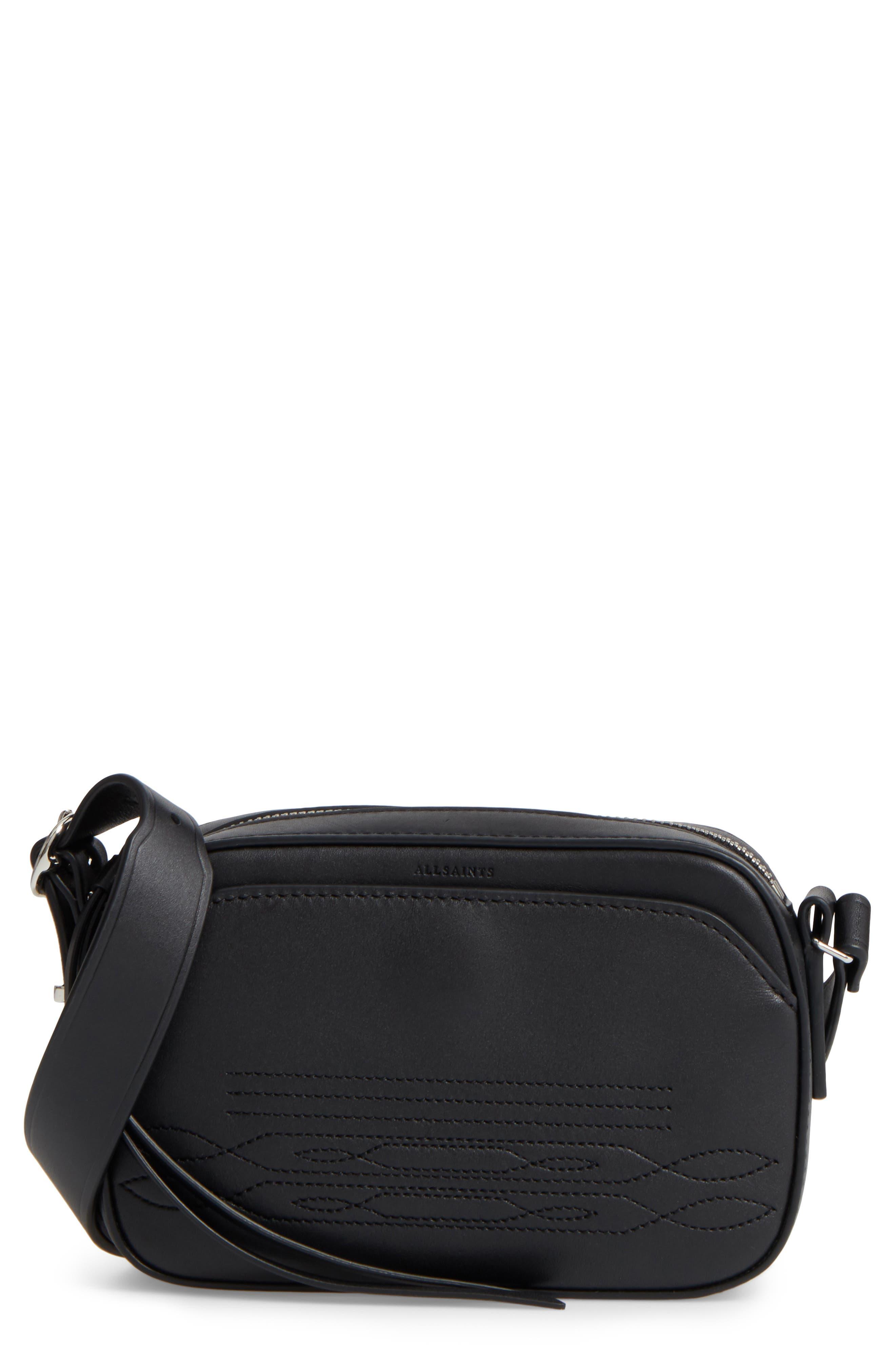 ALLSAINTS Small Cooper Calfskin Leather Shoulder Bag
