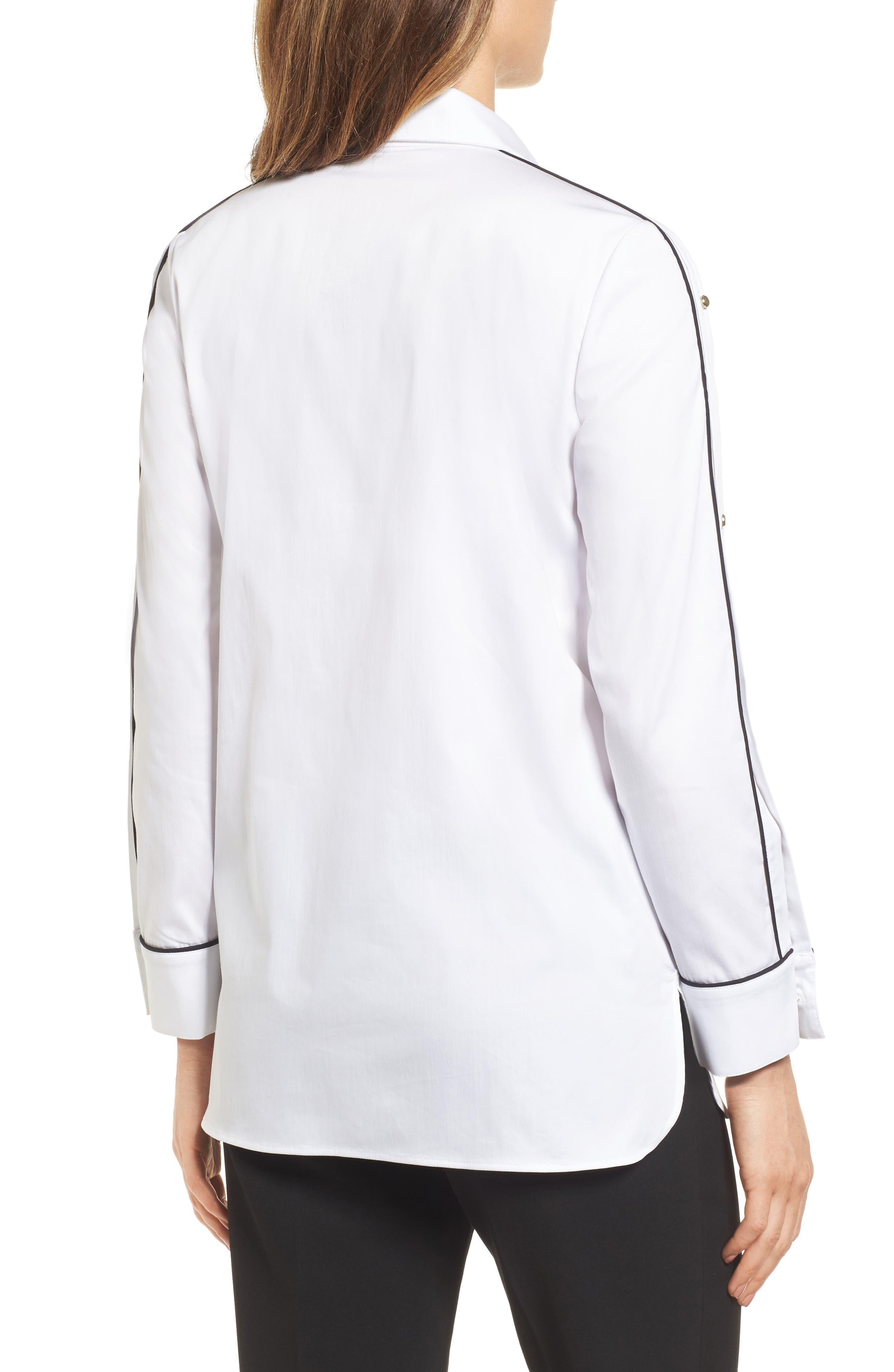 Alternate Image 2  - Ming Wang Split Sleeve Shirt