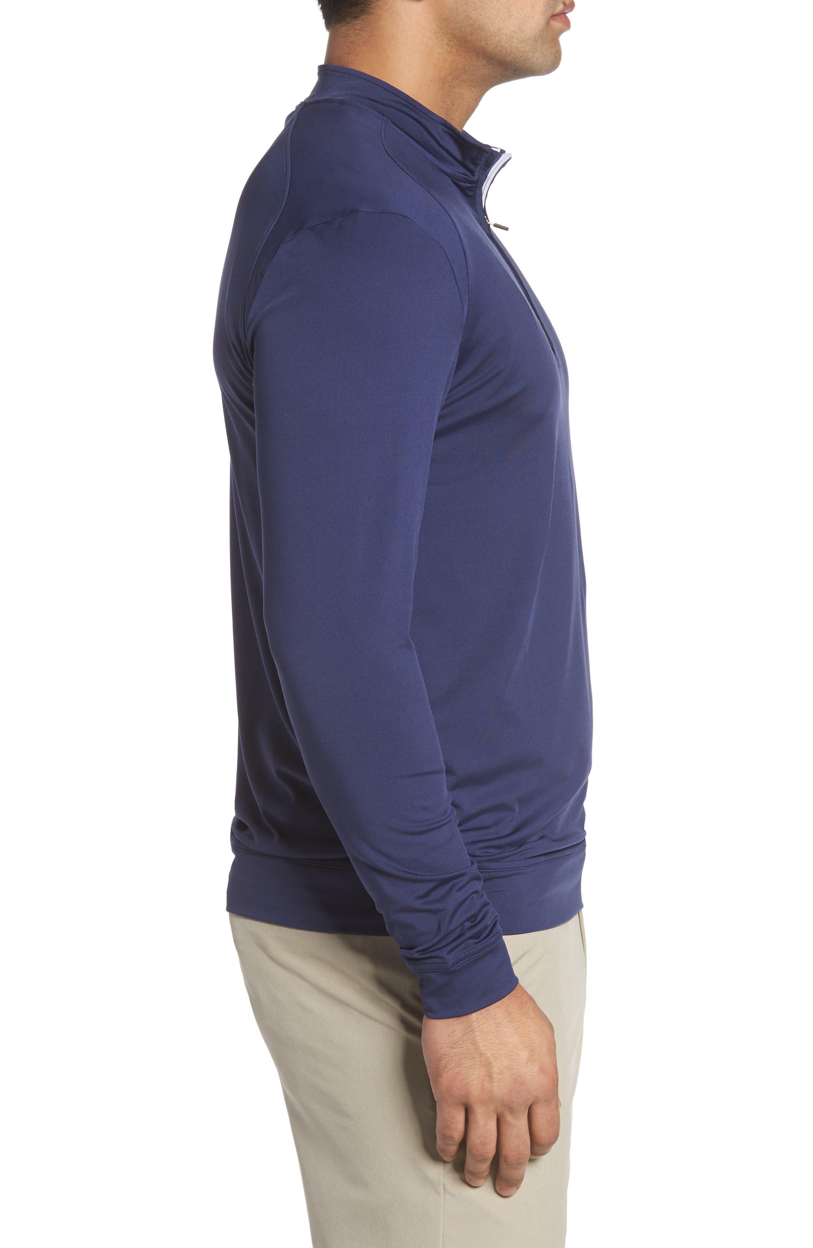Flex Classic Fit Quarter Zip Pullover,                             Alternate thumbnail 3, color,                             Twilight