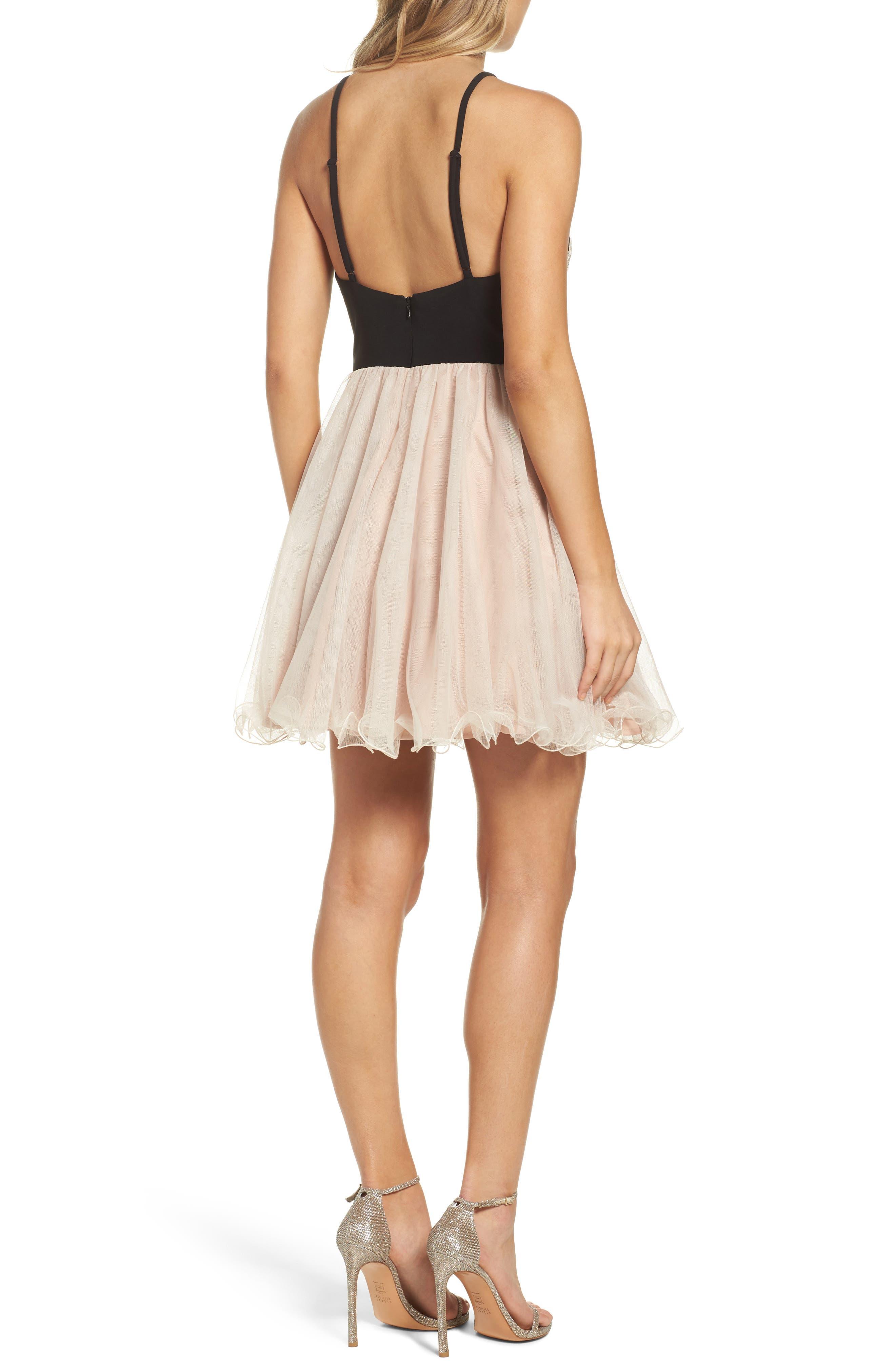 Alternate Image 2  - Blondie Nites Appliqué Fit & Flare Dress