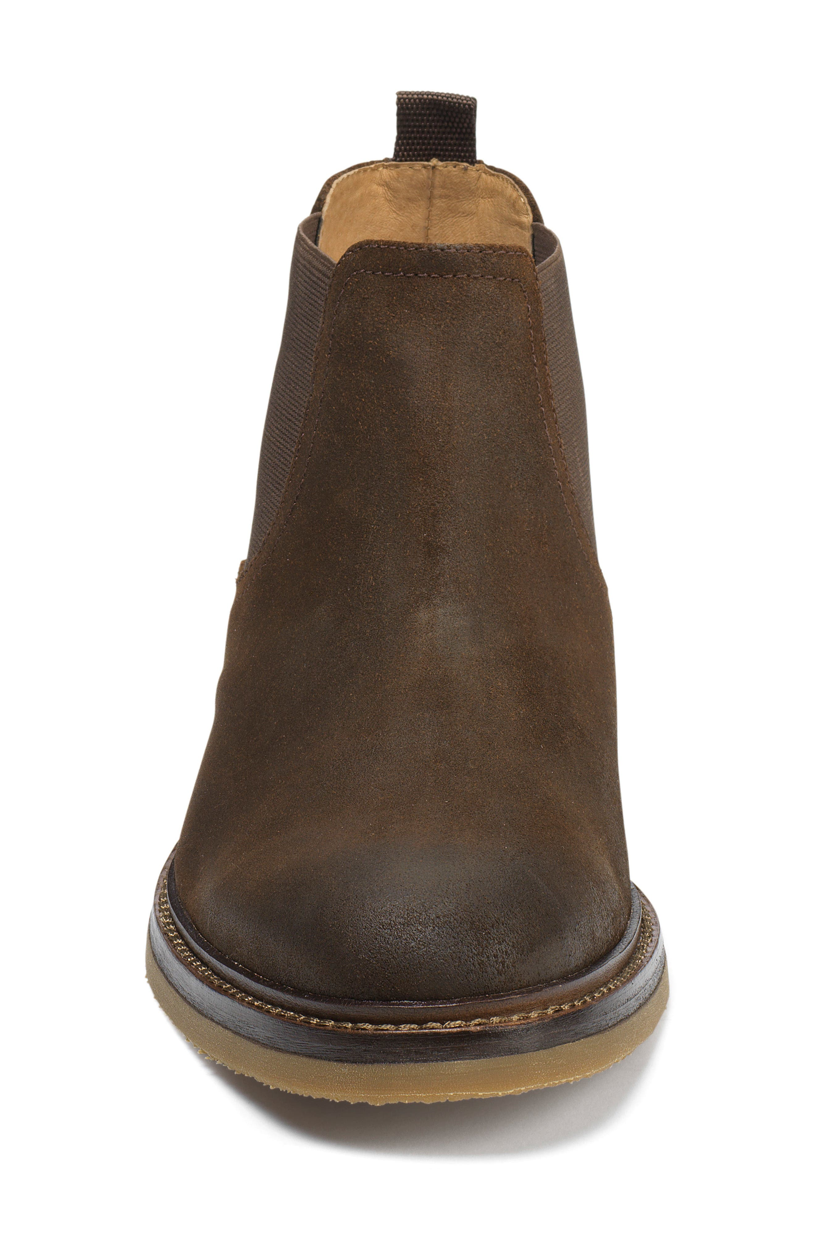 Carter Chelsea Boot,                             Alternate thumbnail 3, color,                             Snuff Waxed Suede