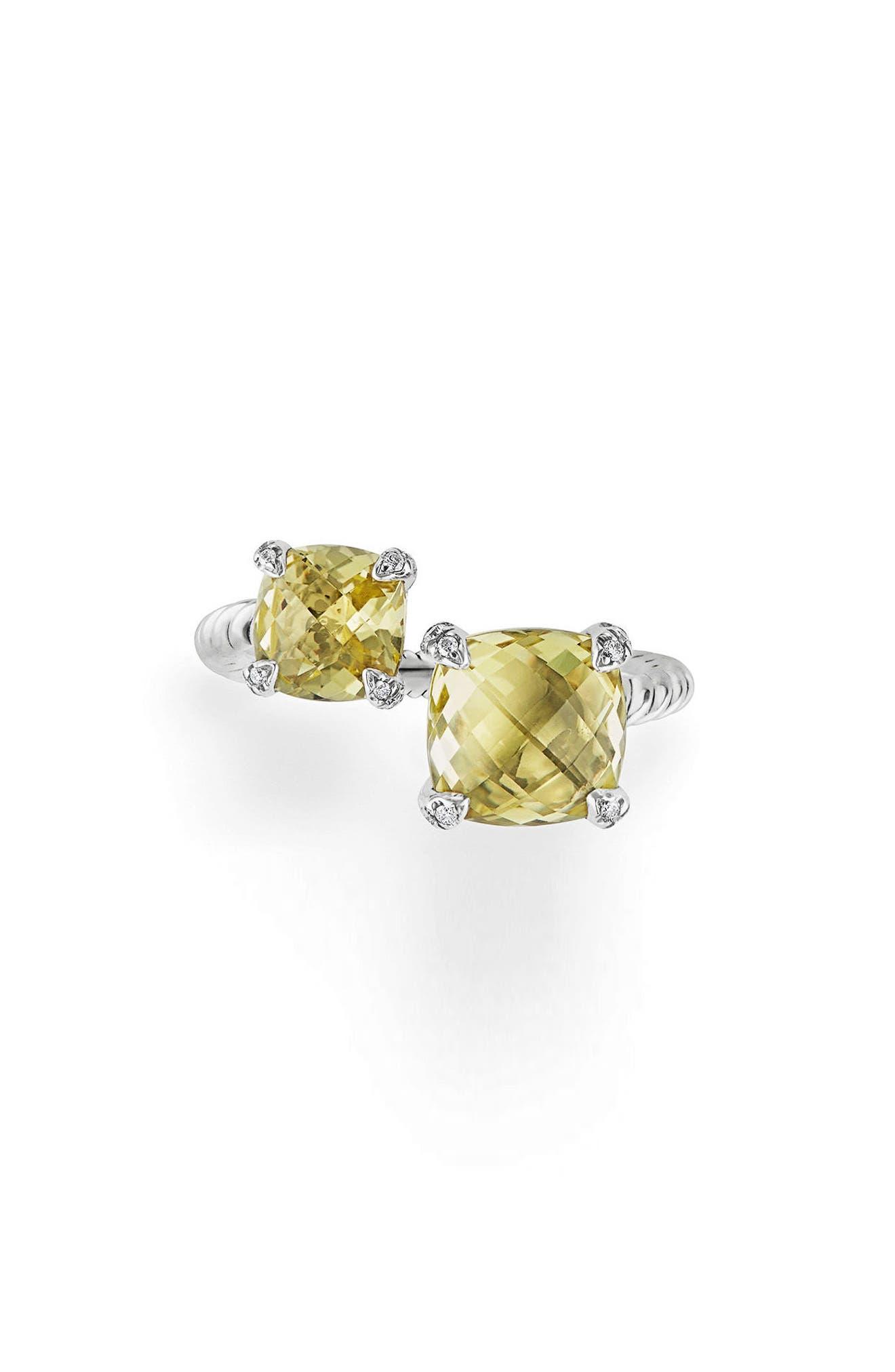 David Yurman Châtelaine Bypass Ring with Diamonds