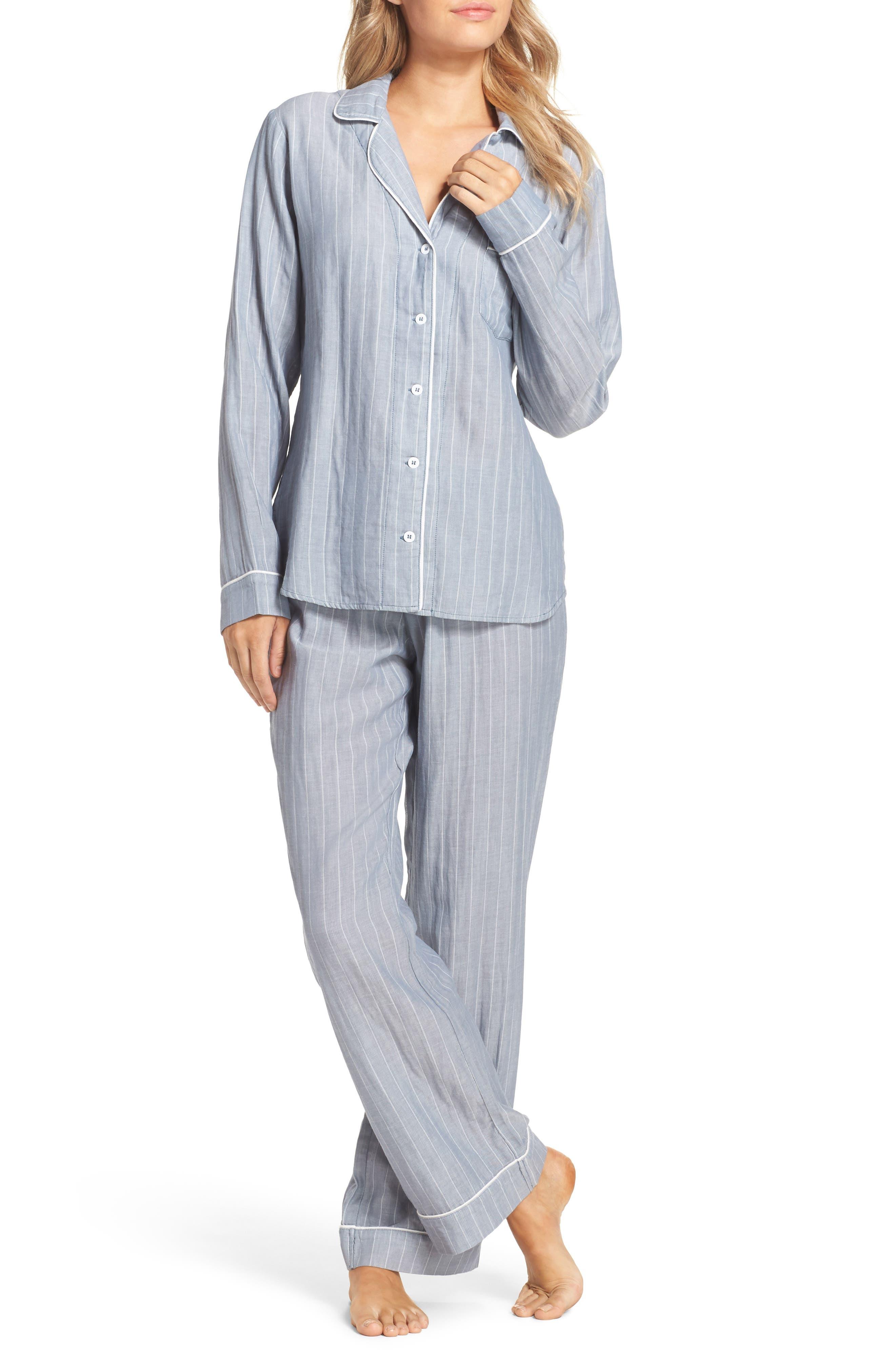 Alternate Image 1 Selected - UGG® Raven Stripe Pajamas