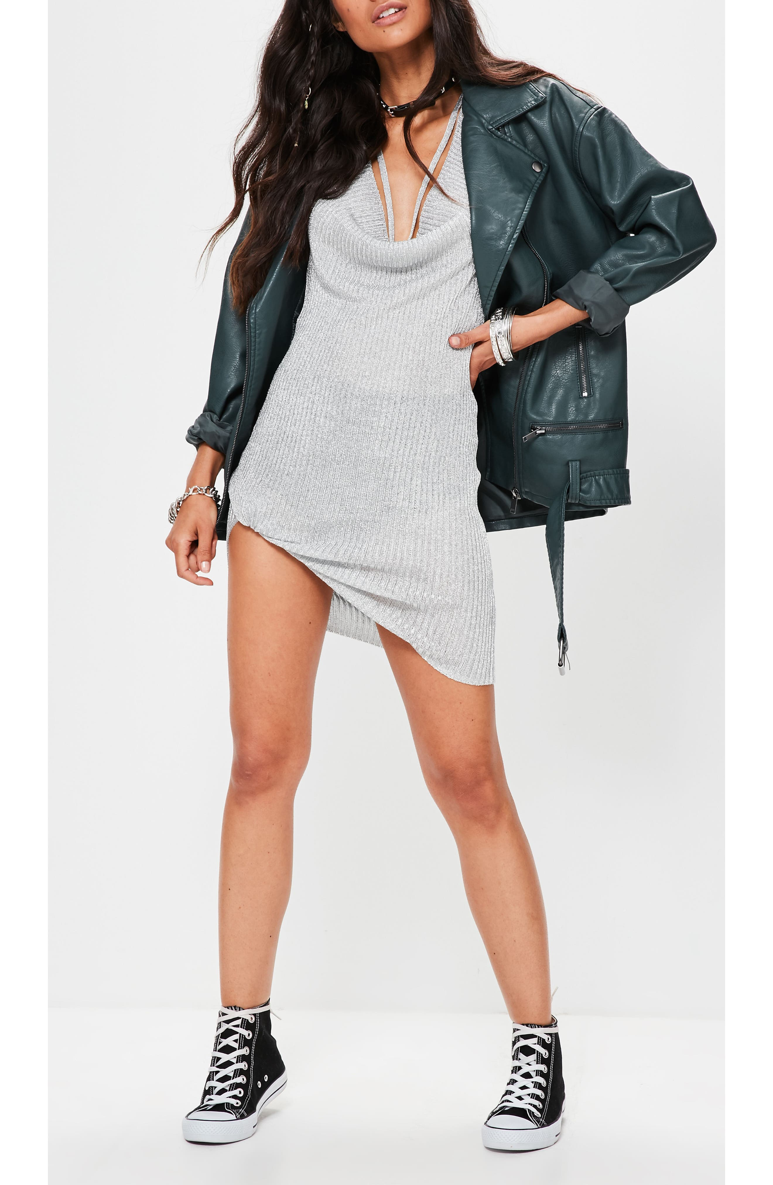 Alternate Image 4  - Missguided Faux Leather Biker Jacket